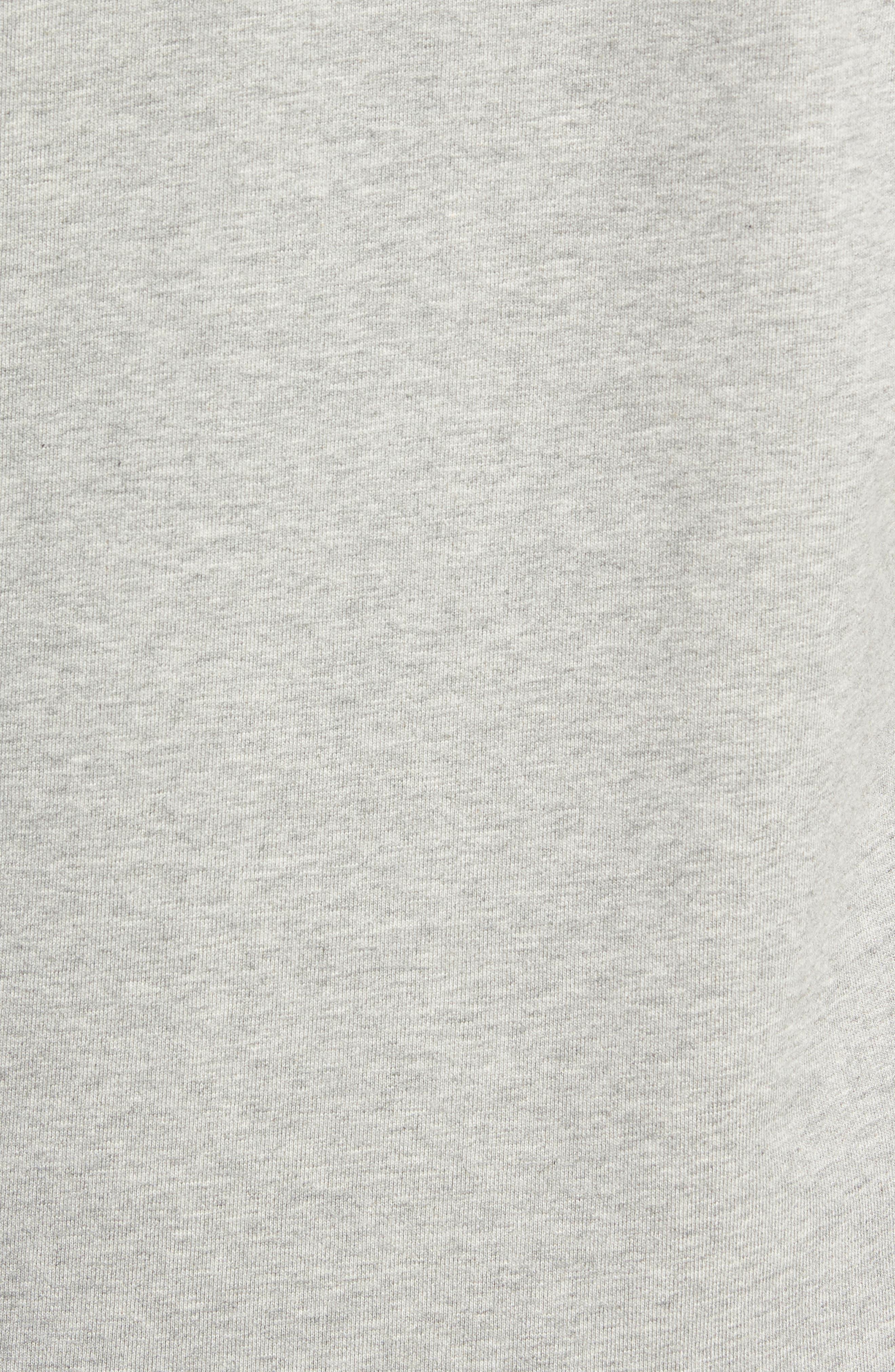 REIGNING CHAMP, Gym Logo Sweatshirt, Alternate thumbnail 5, color, HEATHER GREY/ BLACK