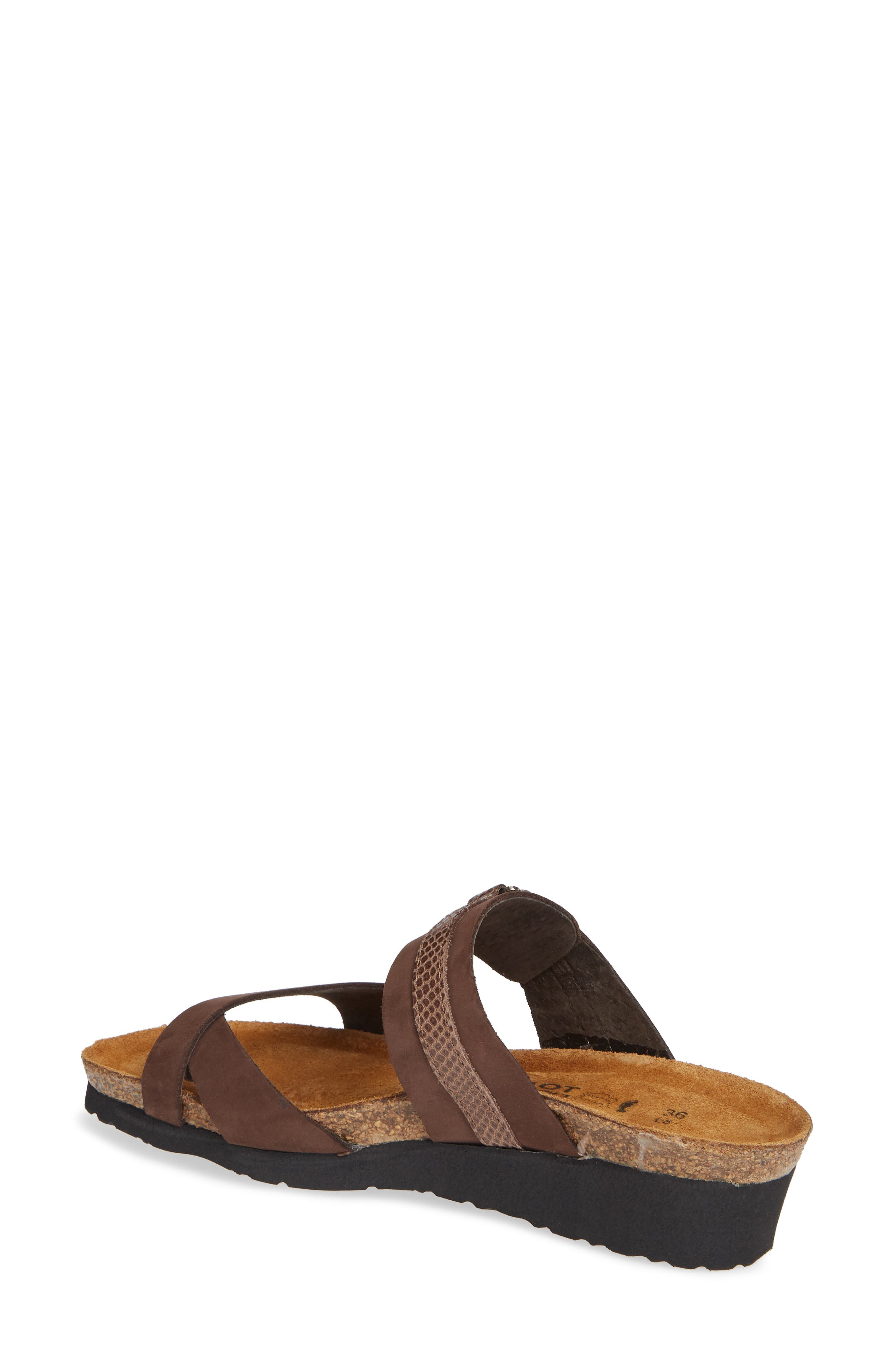 NAOT, Jessica Sandal, Alternate thumbnail 2, color, COFFEE BEAN NUBUCK LEATHER