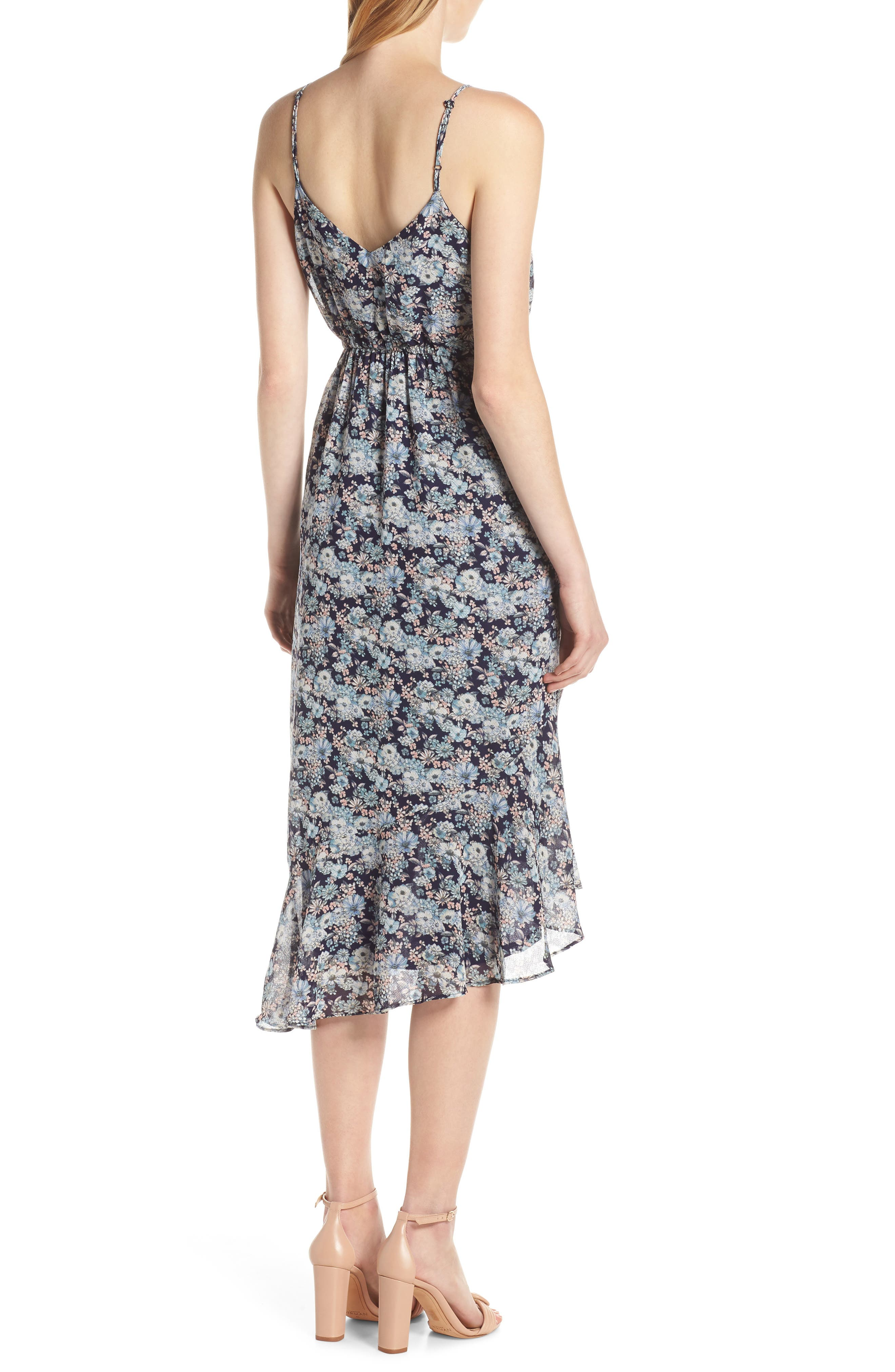19 COOPER, Asymmetrical Ruffle Hem Dress, Alternate thumbnail 2, color, 410