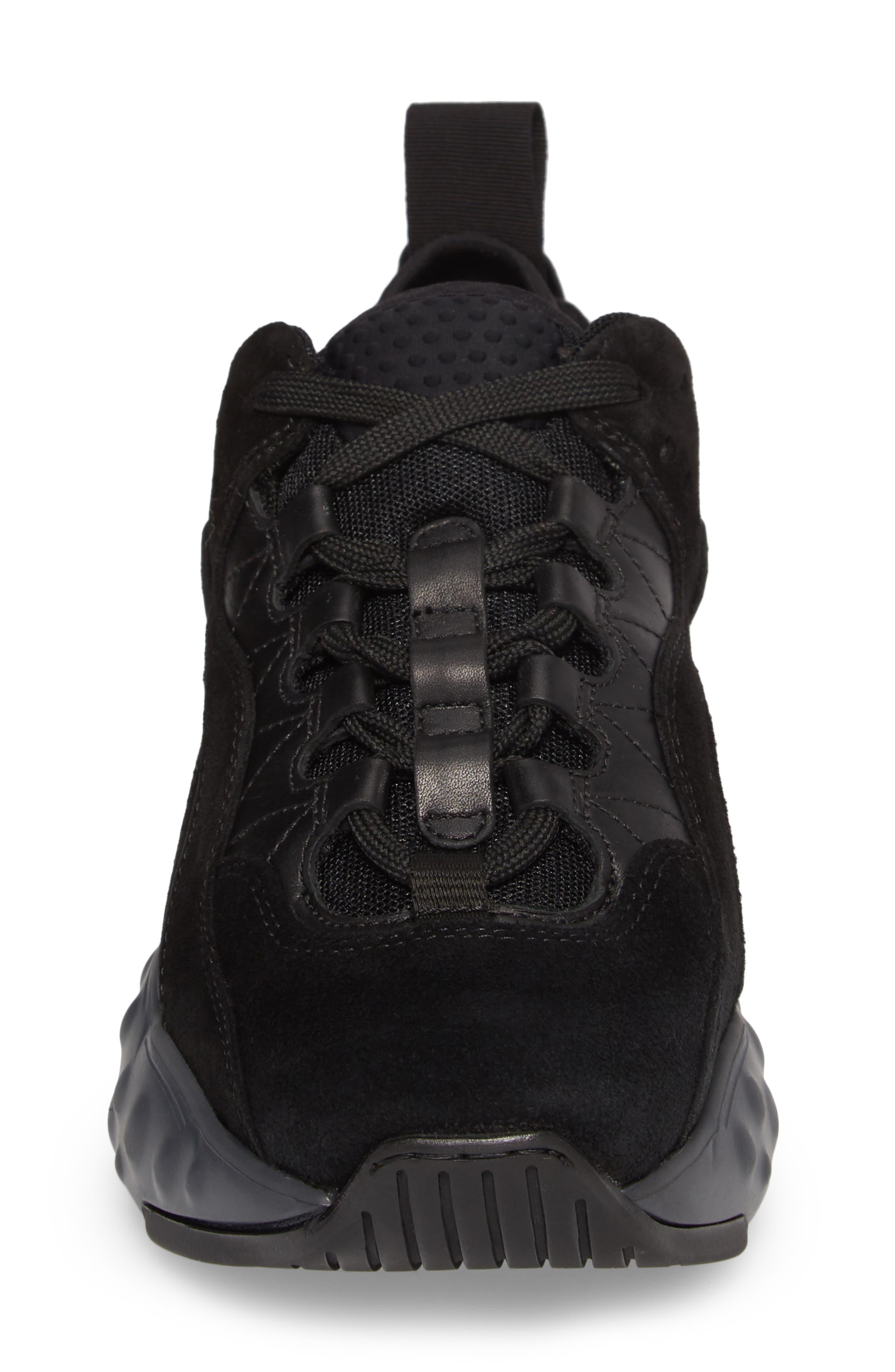 ACNE STUDIOS, Manhattan Sneaker, Alternate thumbnail 4, color, MULTI BLACK