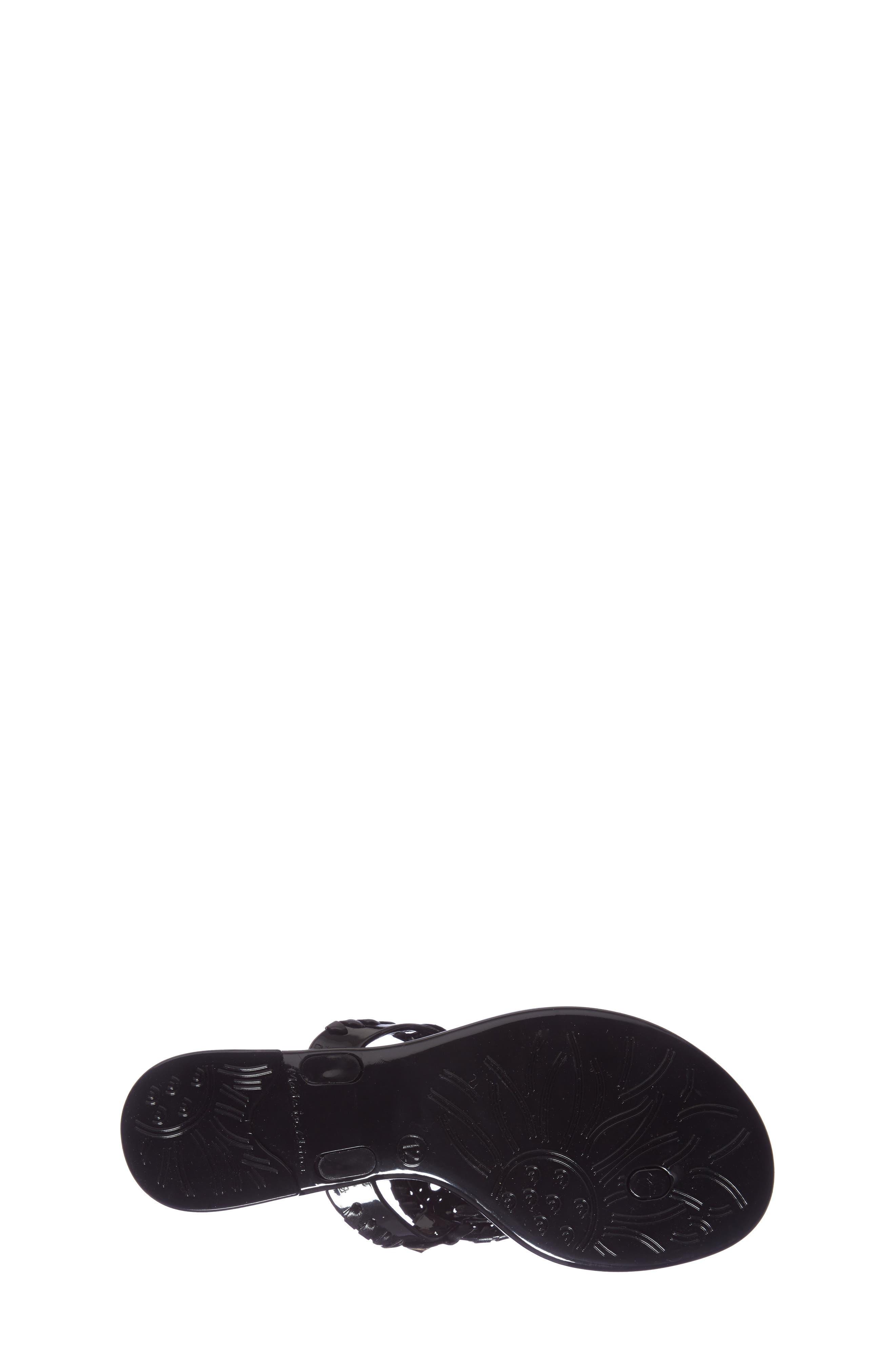 JACK ROGERS, 'Miss Georgica' Jelly Flip Flop, Alternate thumbnail 4, color, BLACK