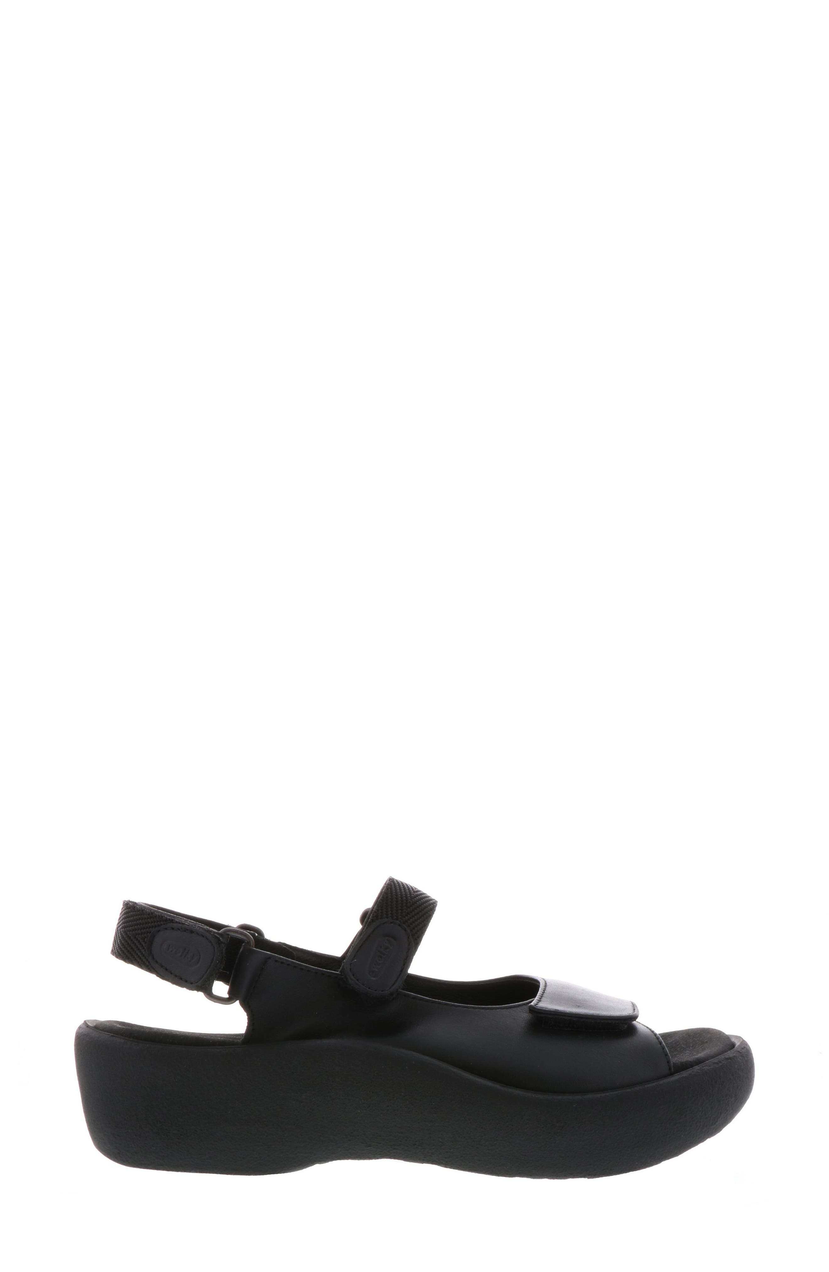 WOLKY, Jewel Sport Sandal, Alternate thumbnail 3, color, BLACK/ BLACK