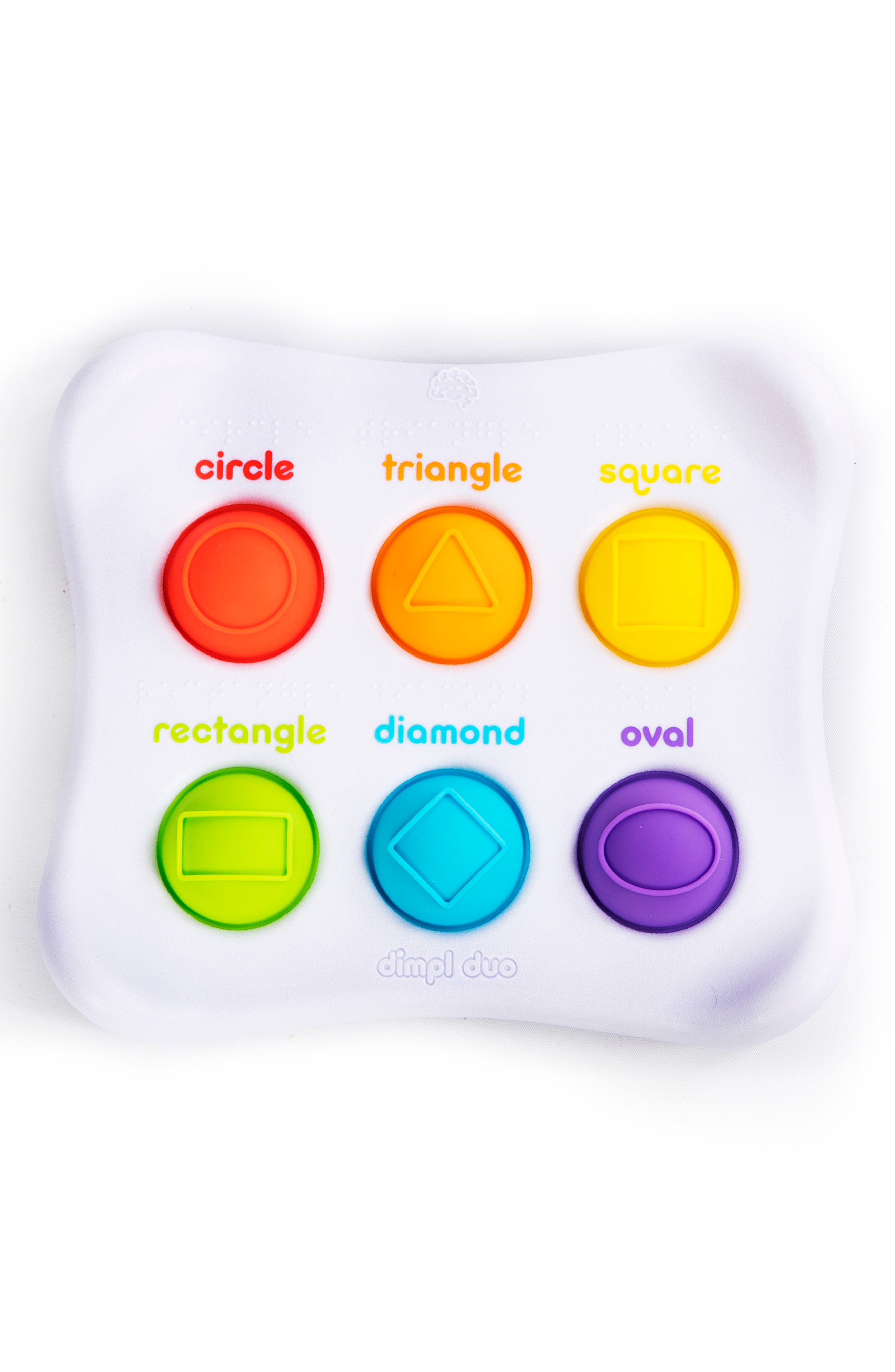 FAT BRAIN TOYS, Dimpl Duo<sup>™</sup> Silicone Button Toy, Main thumbnail 1, color, WHITE