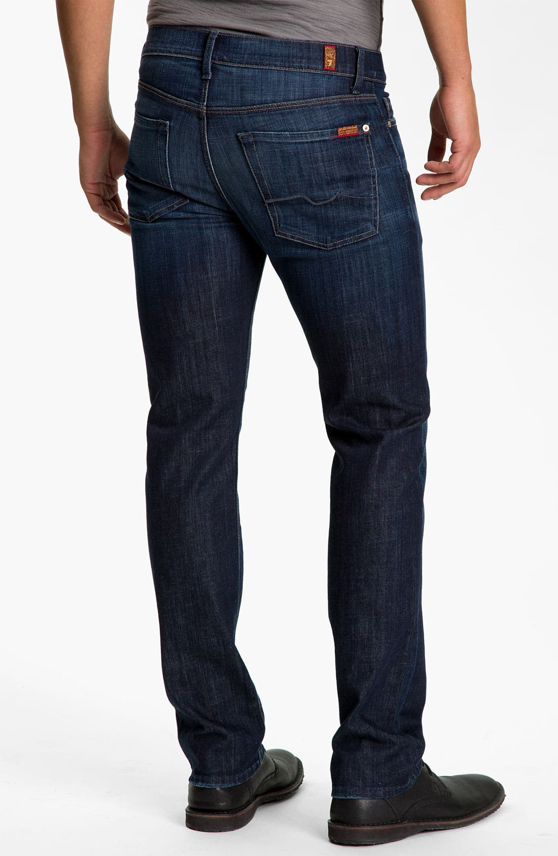 7 FOR ALL MANKIND<SUP>®</SUP>, Slimmy Slim Fit Jeans, Alternate thumbnail 8, color, LOS ANGELES DARK