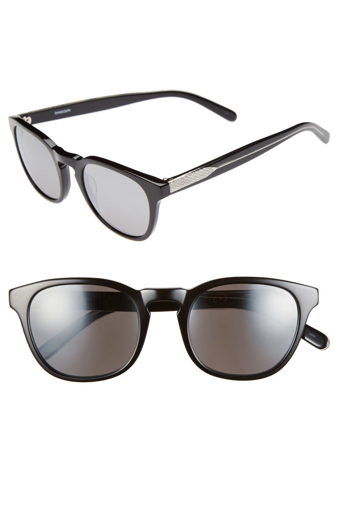 RANDOLPH ENGINEERING, 'Ashby' 50mm Sunglasses, Main thumbnail 1, color, 001