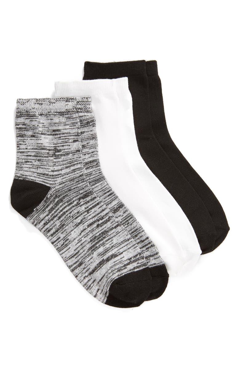 Hue Socks 3-PACK SUPERSOFT CROP SOCKS
