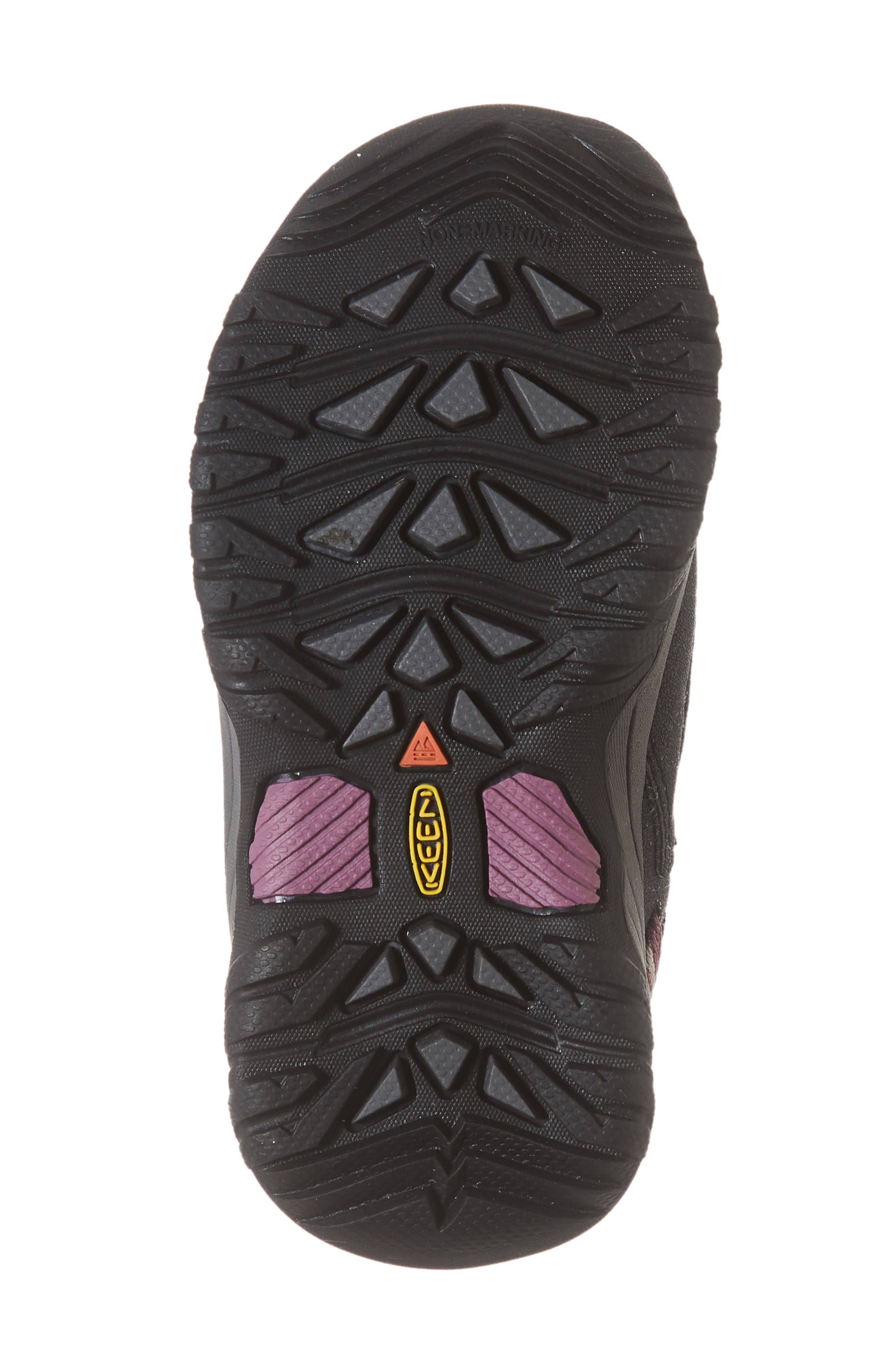 KEEN, Targhee Low Waterproof Sneaker, Alternate thumbnail 6, color, RAVEN/ TULIPWOOD