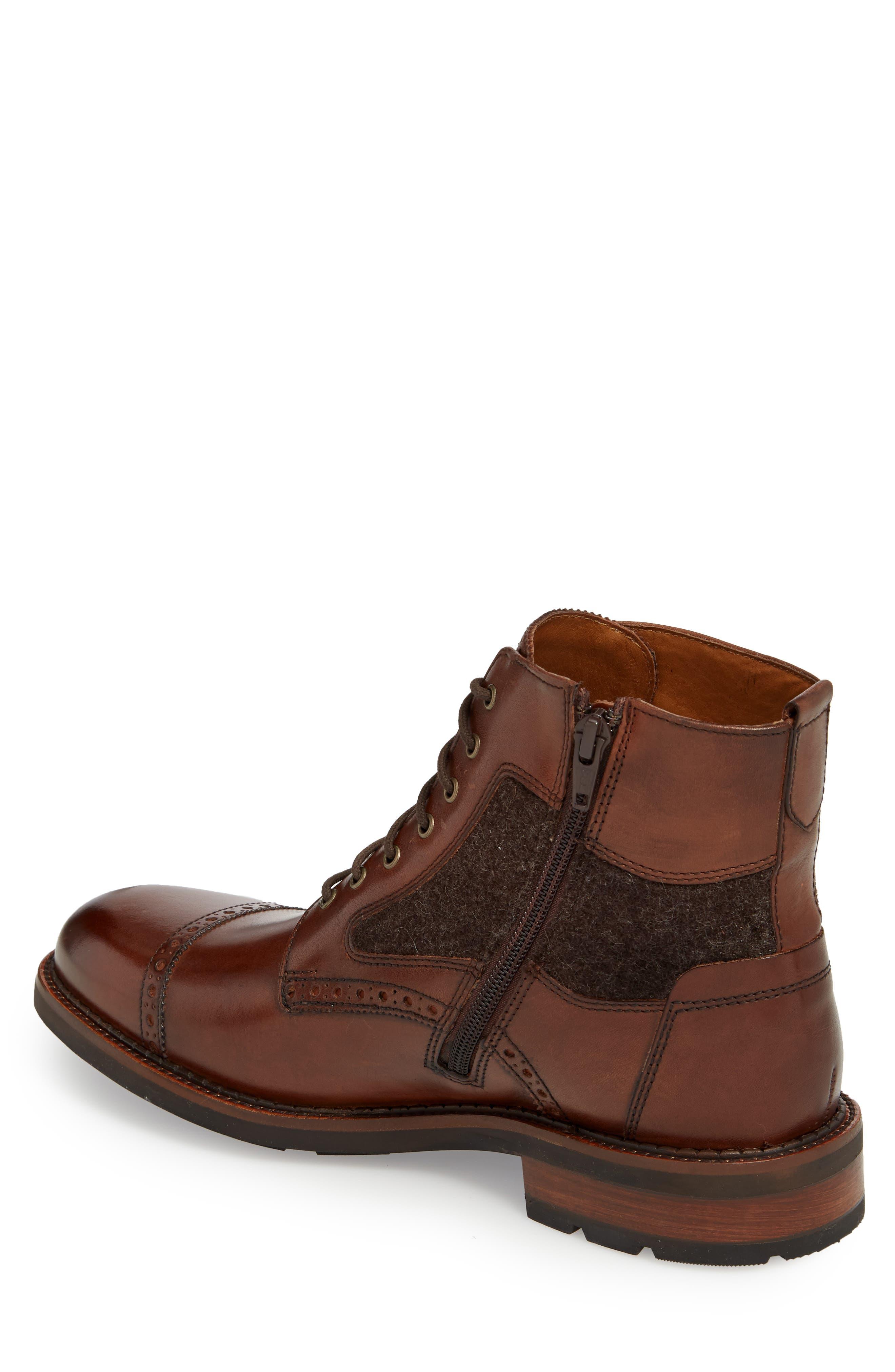 J&M 1850, Fullerton Zip Boot, Alternate thumbnail 2, color, MAHOGANY