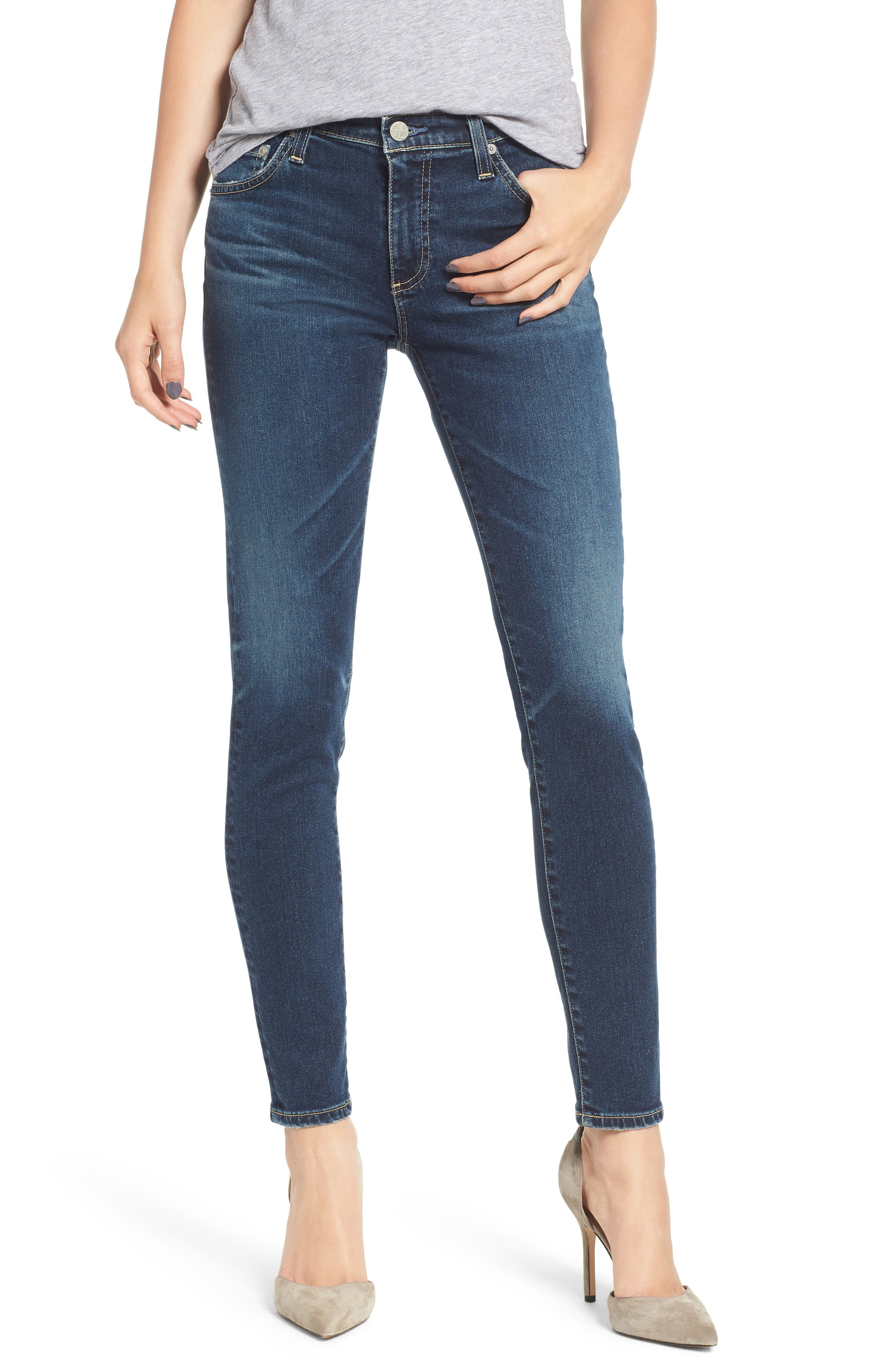 AG, The Legging Ankle Super Skinny Jeans, Main thumbnail 1, color, 10Y TRANSCENDANCE