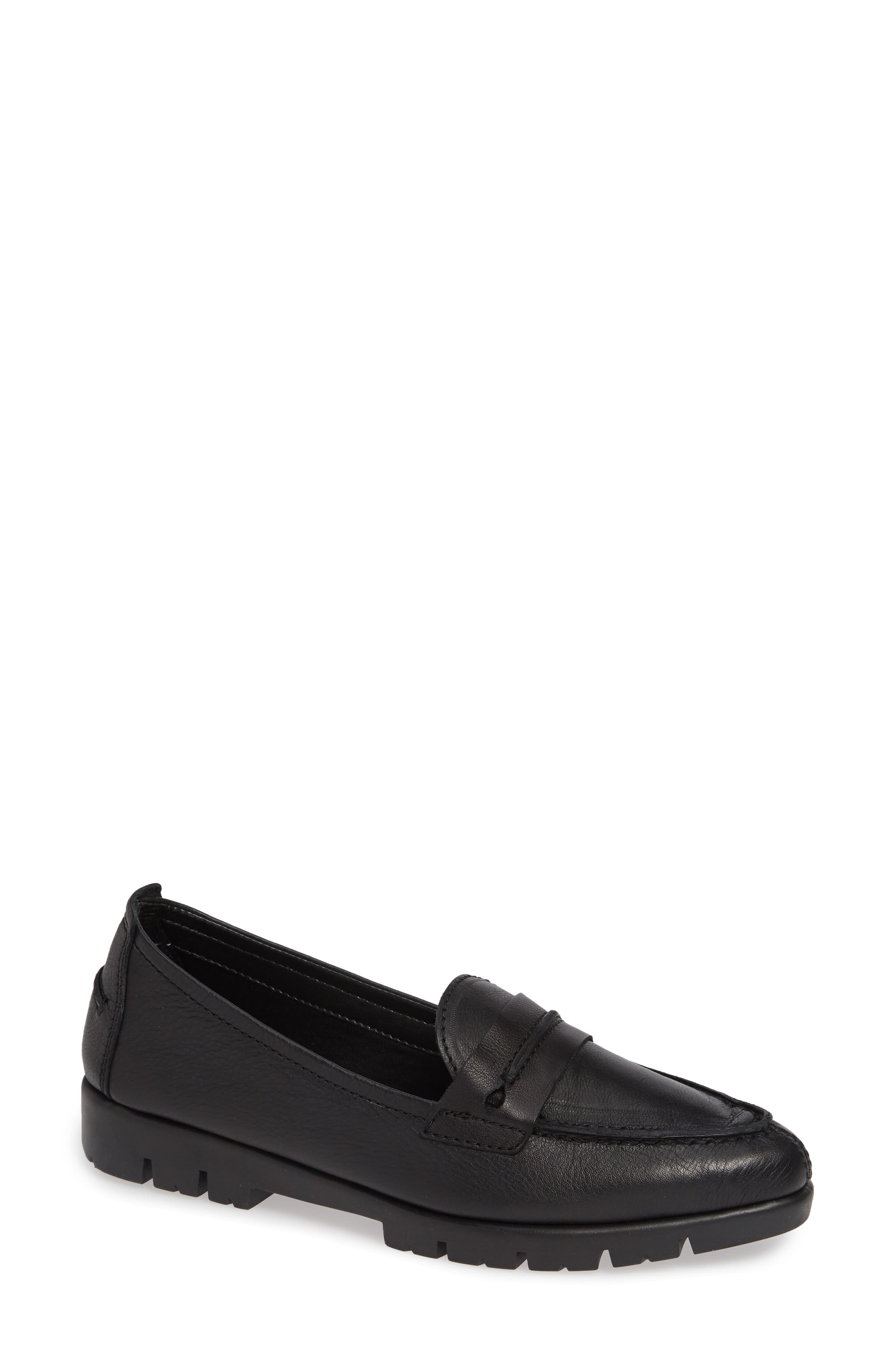 THE FLEXX, Moc A Go Loafer, Main thumbnail 1, color, BLACK LEATHER
