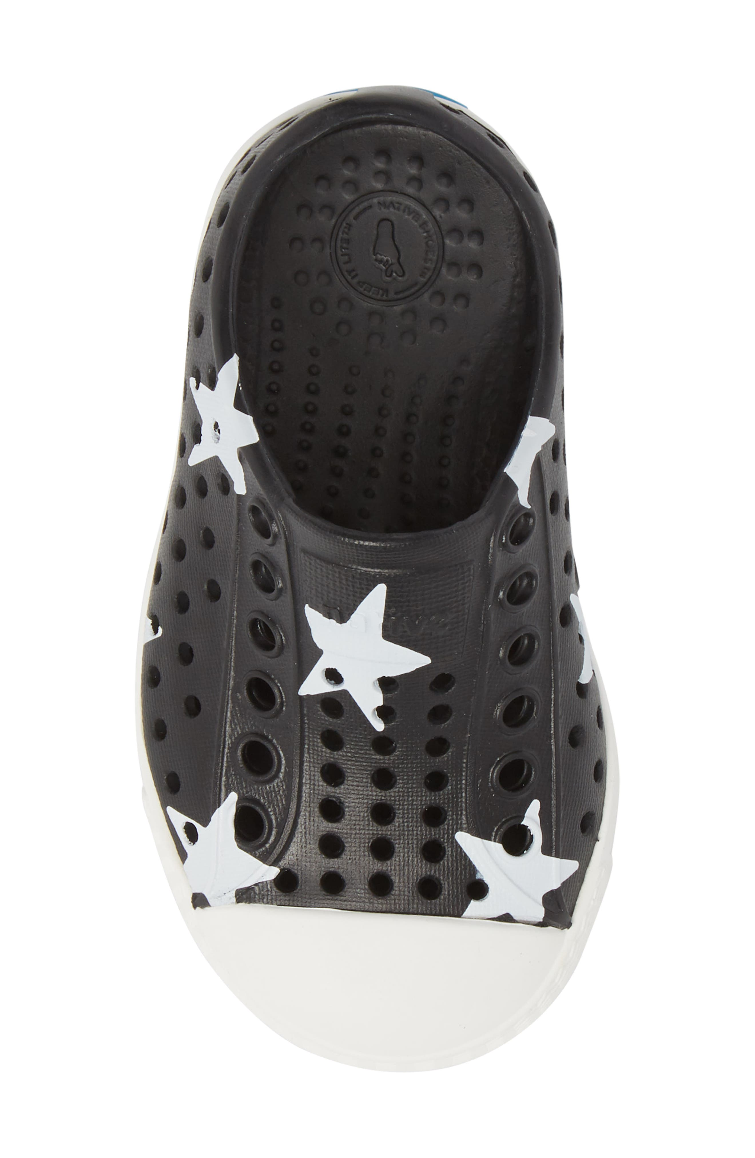 NATIVE SHOES, Jefferson Quartz Slip-On Sneaker, Alternate thumbnail 5, color, JIFFY BLACK/ WHITE/ STAR