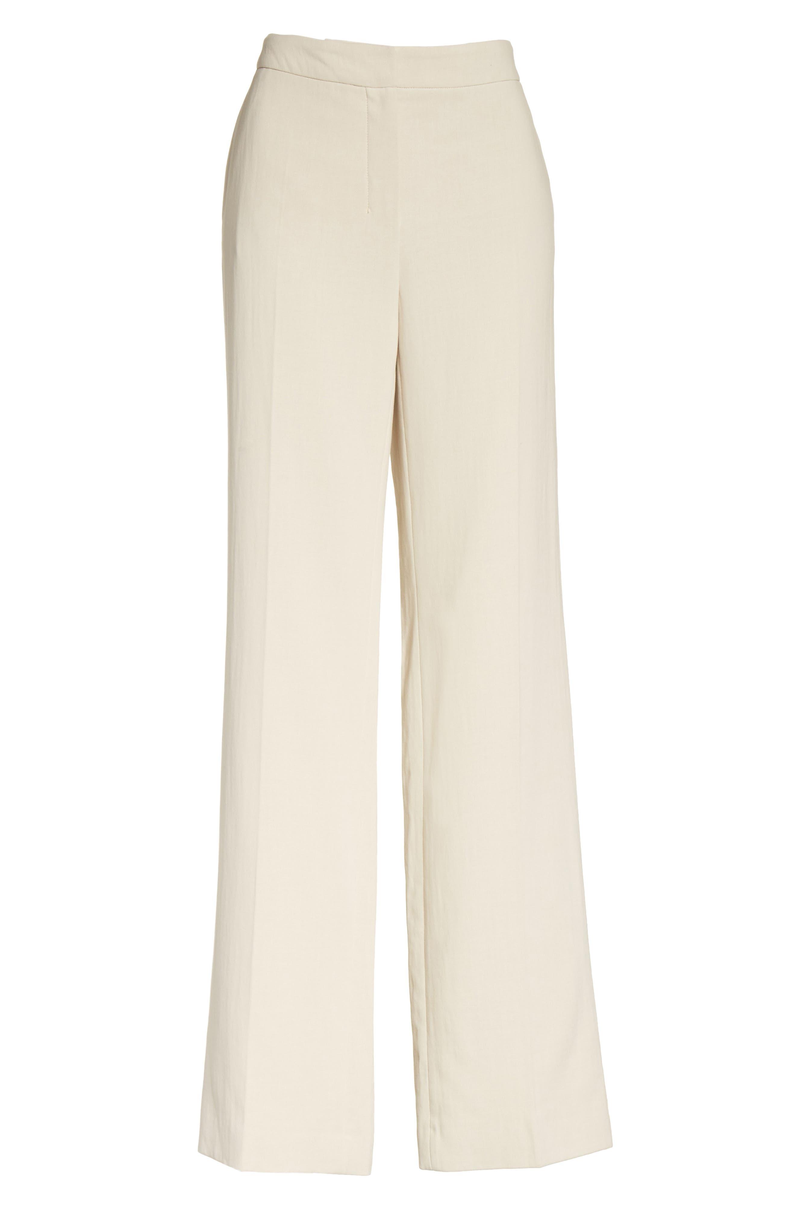 MAX MARA, Cursore Cotton Wide Leg Pants, Alternate thumbnail 6, color, 900