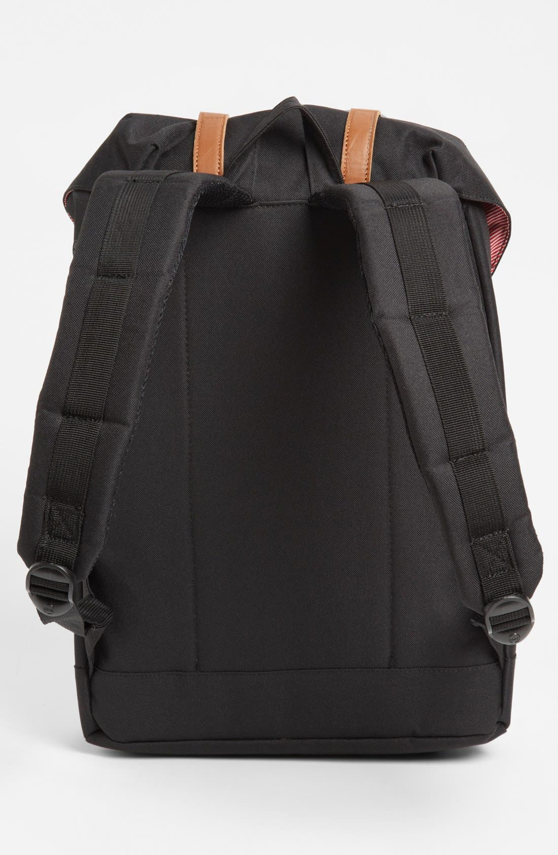 HERSCHEL SUPPLY CO., 'Retreat' Backpack, Alternate thumbnail 5, color, BLACK
