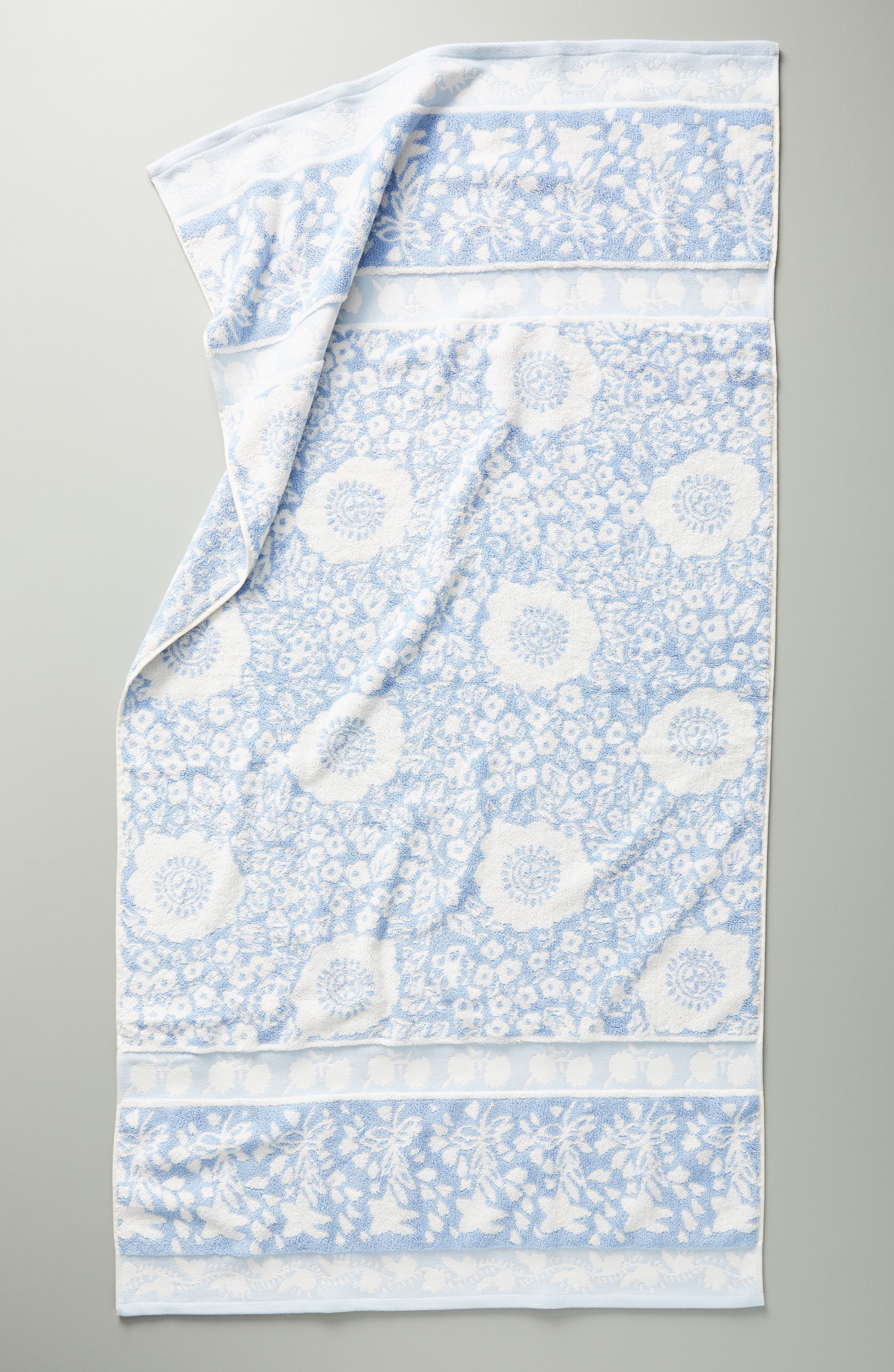 Anthropologie Lindie Hand Towel Size One Size  Blue