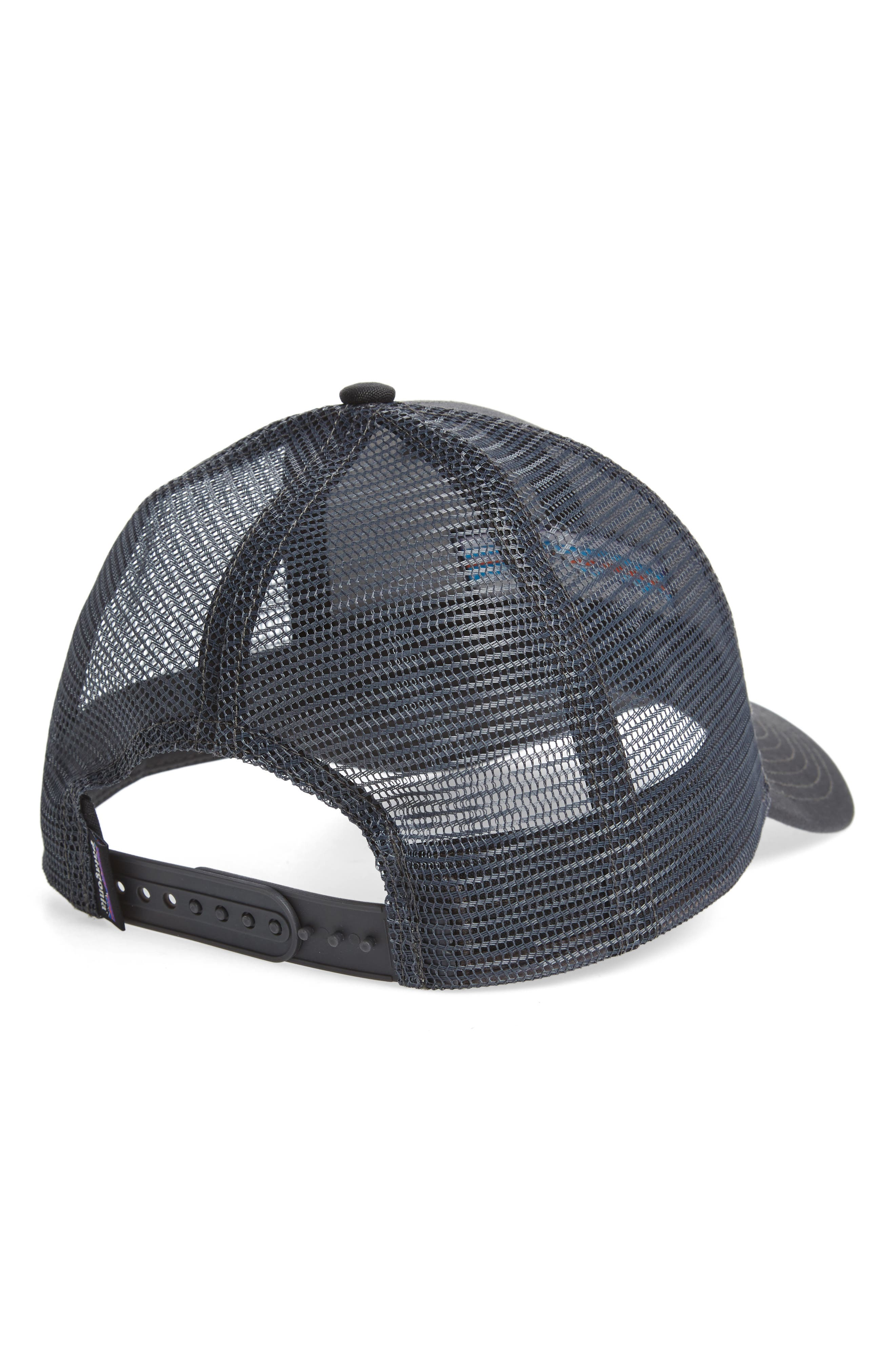PATAGONIA, 'PG - Lo Pro' Trucker Hat, Alternate thumbnail 2, color, FORGE GREY/ FORGE GREY