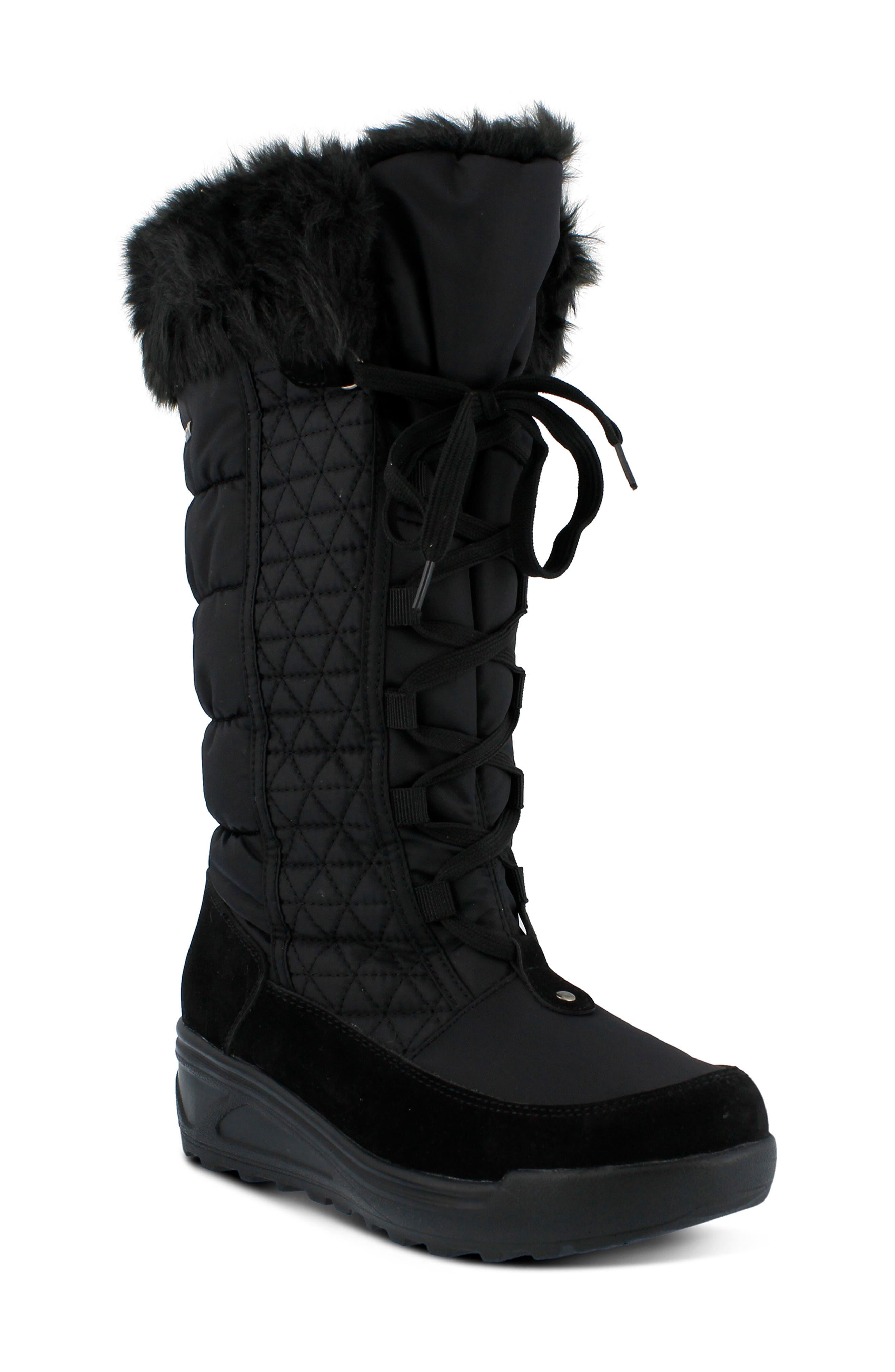 Spring Step Fotios Waterproof Faux Fur Boot - Black