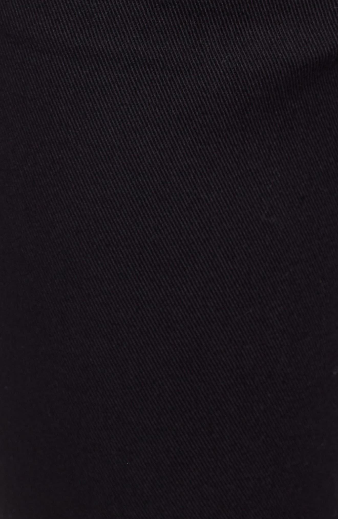 STS BLUE, Emma Ripped Fray Hem Skinny Jeans, Alternate thumbnail 6, color, 001