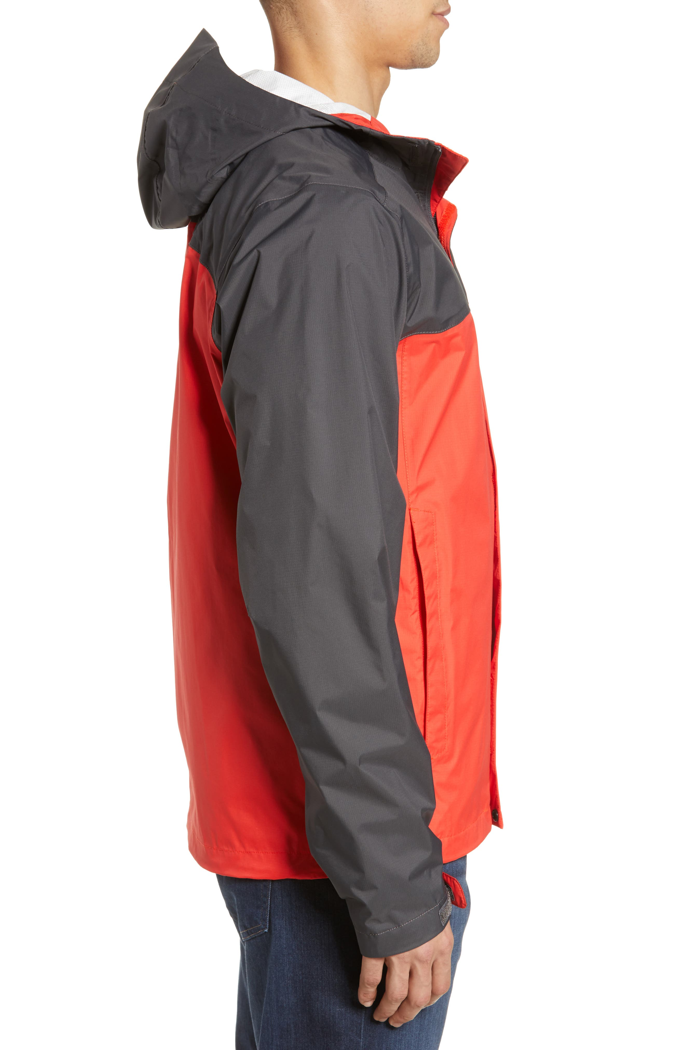 THE NORTH FACE, Venture II Raincoat, Alternate thumbnail 3, color, FIERY RED/ ASPHALT GREY