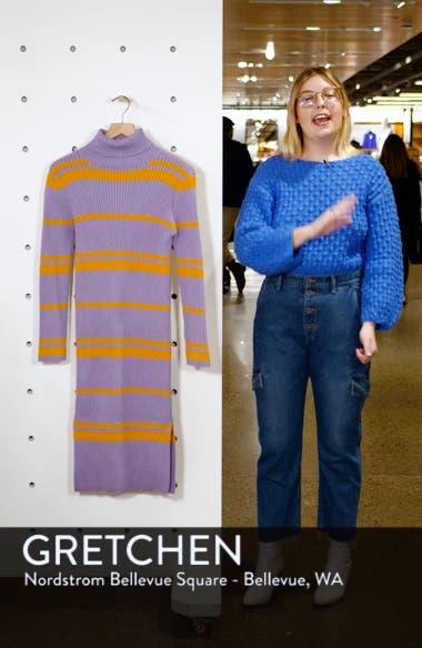Stripe Turtleneck Sweater Dress, sales video thumbnail