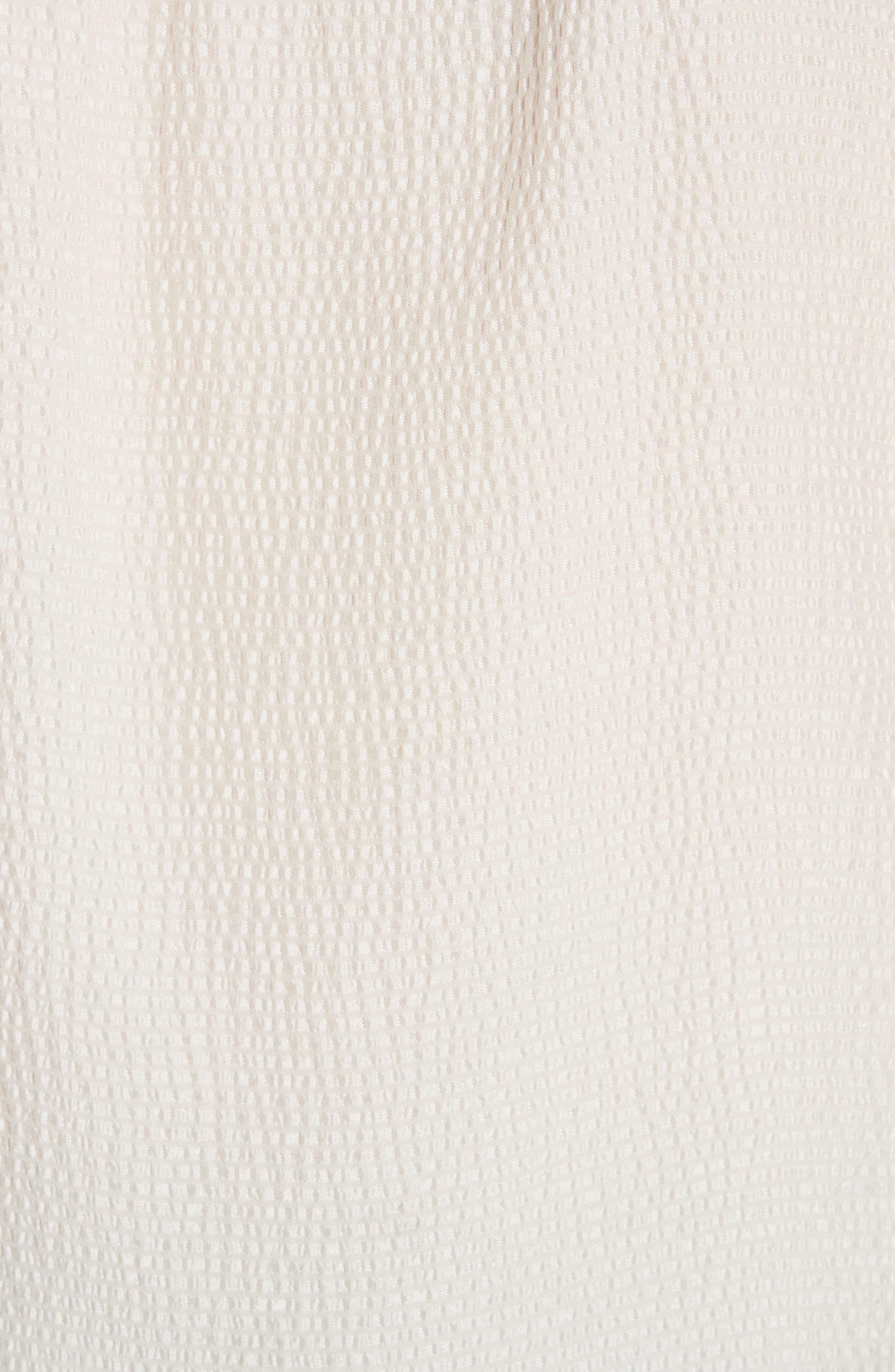 REBECCA TAYLOR, Silk Ruffle Top, Alternate thumbnail 5, color, VANILLA