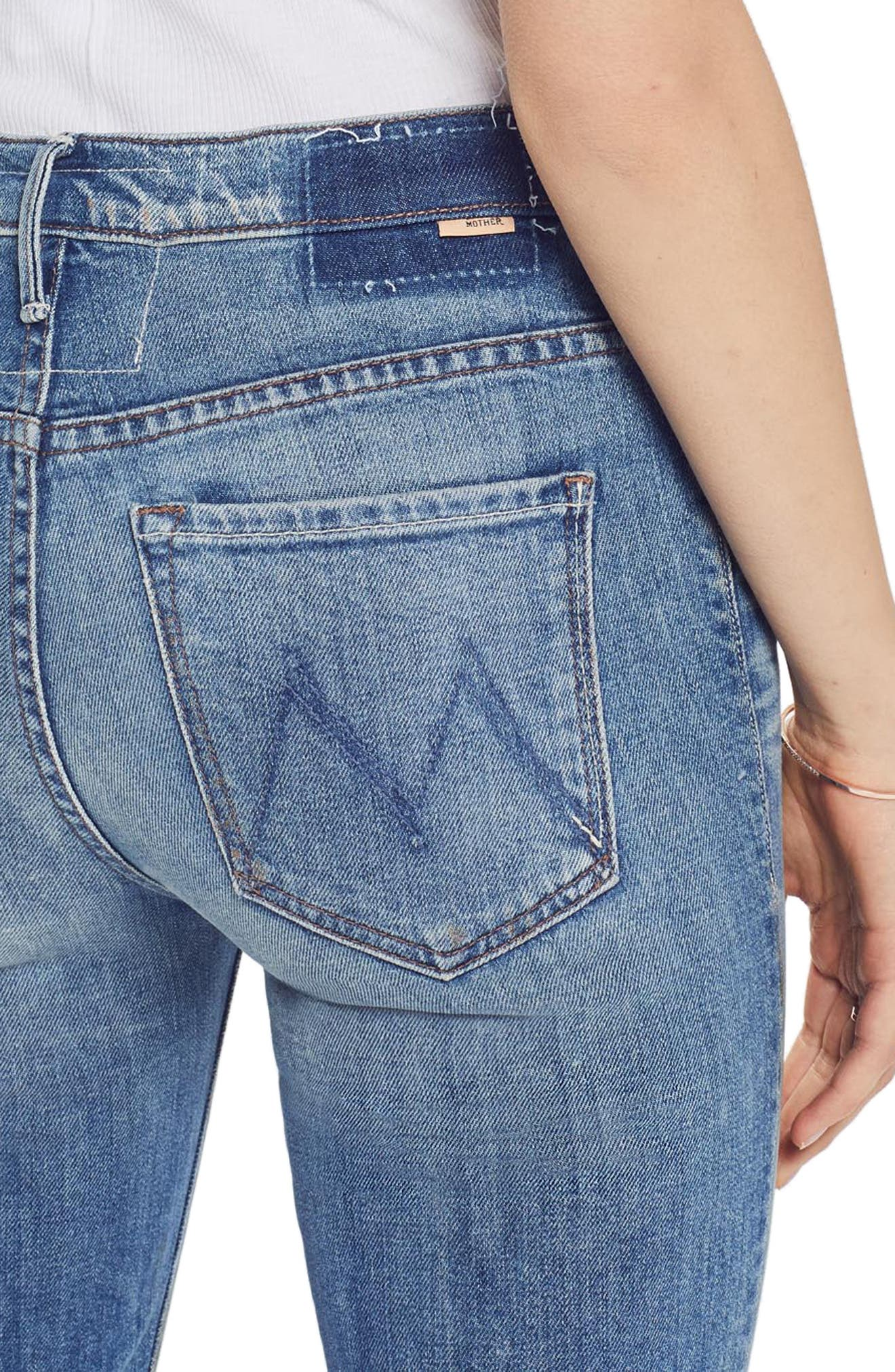 MOTHER, The Insider Ankle Bootcut Jeans, Alternate thumbnail 5, color, 421