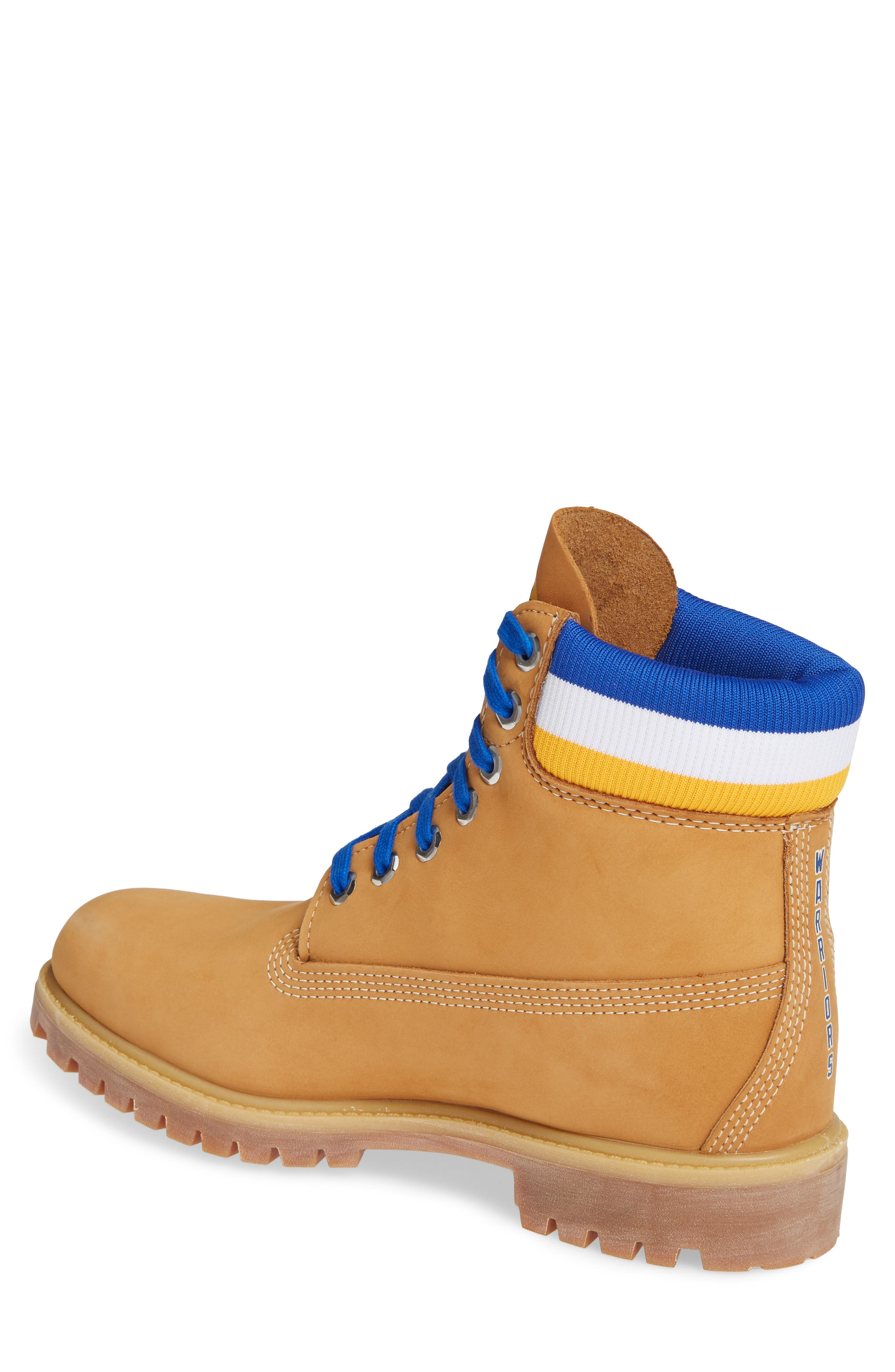TIMBERLAND, Premium NBA Collection Boot, Alternate thumbnail 2, color, WHEAT NUBUCK/ GOLDEN STATE