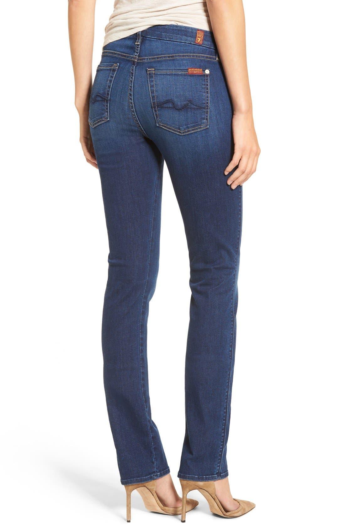 7 FOR ALL MANKIND<SUP>®</SUP>, b(air) Kimmie Straight Leg Jeans, Alternate thumbnail 2, color, DUCHESS