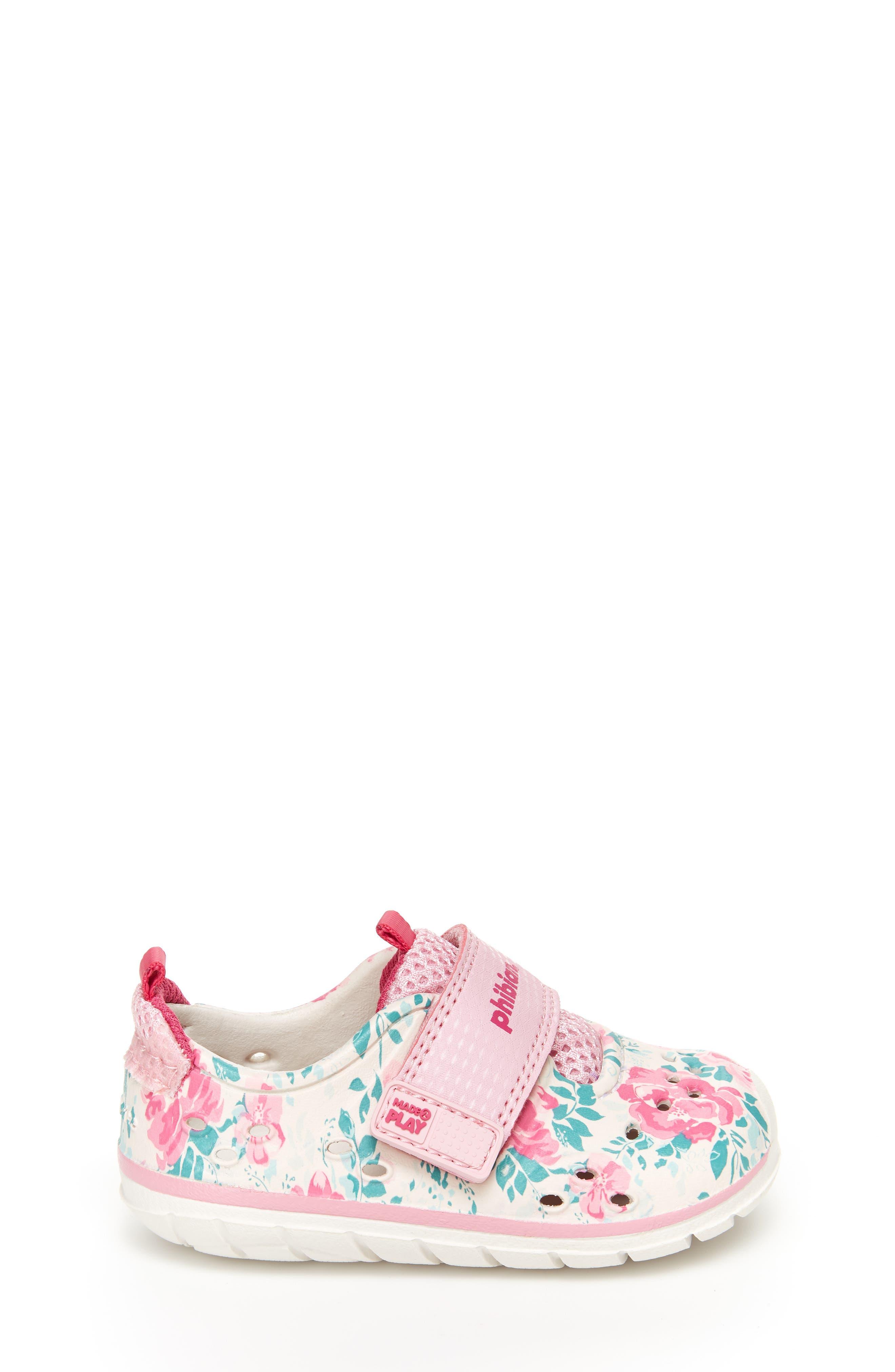 STRIDE RITE, Made2Play<sup>®</sup> Phibian Sneaker, Alternate thumbnail 2, color, WHITE/ PINK EVA