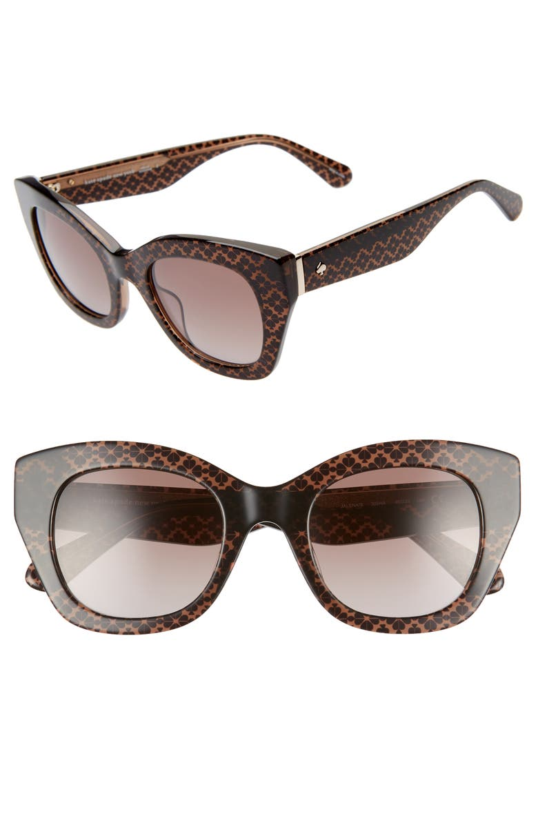 Kate Spade Sunglasses JALENA 49MM GRADIENT SUNGLASSES - BROWN/ BLACK