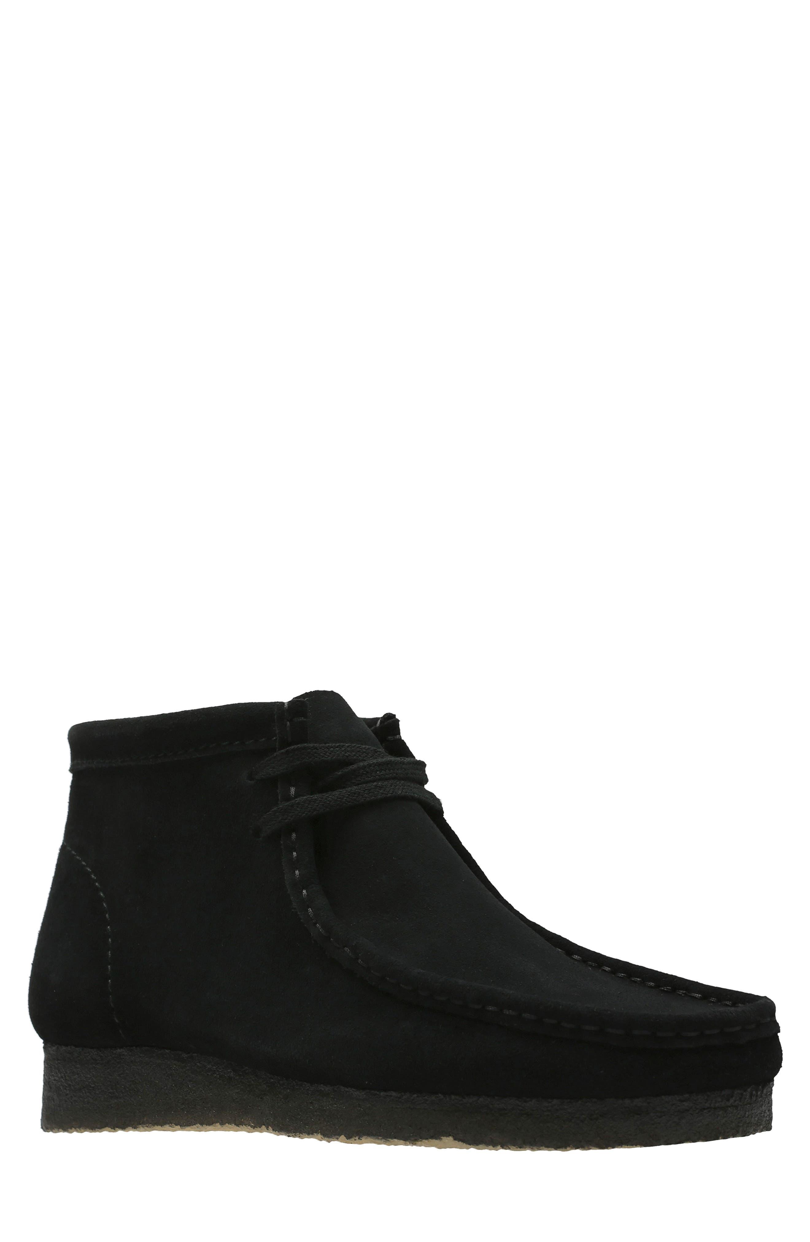 CLARKS<SUP>®</SUP> Originals Wallabee Boot, Main, color, BLACK SUEDE