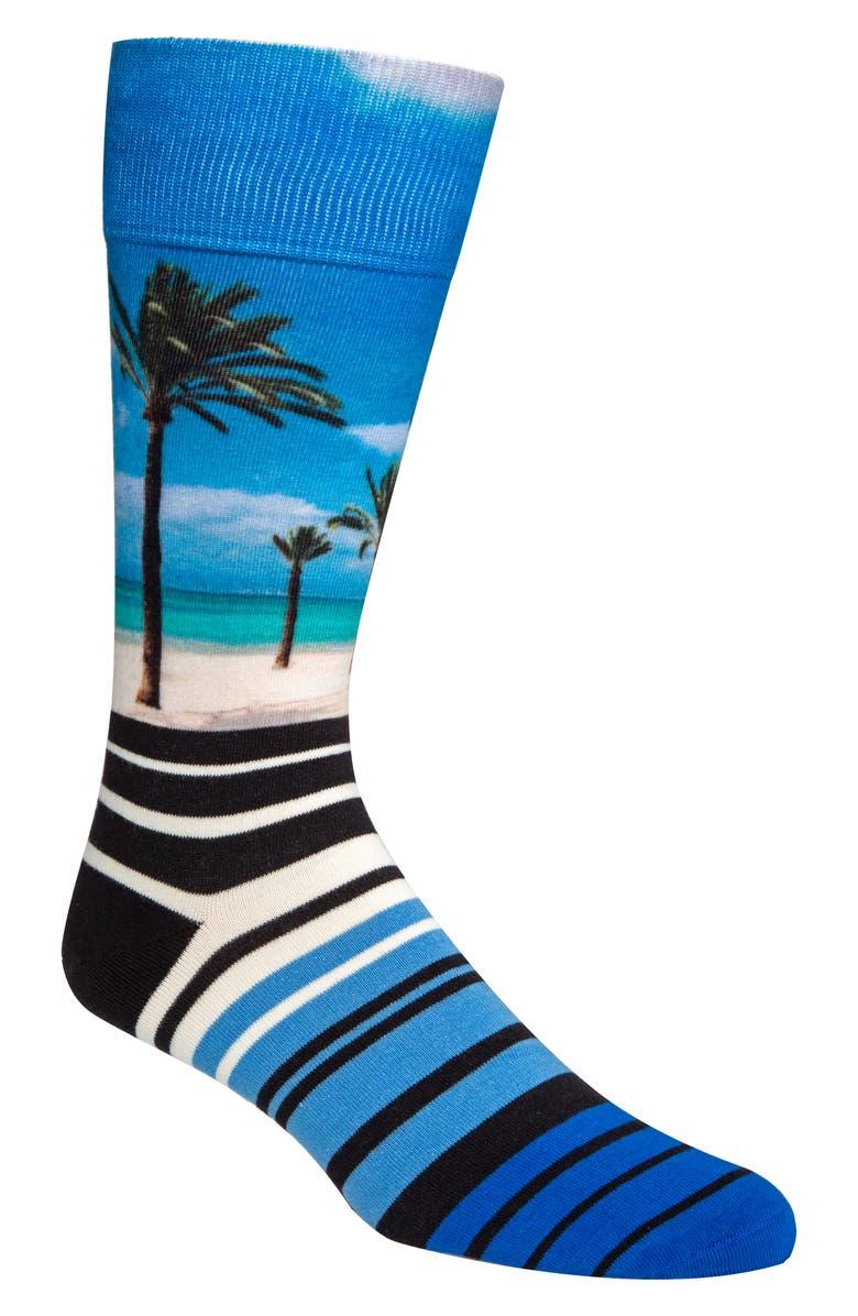Cole Haan Socks PRINT PALM TREE CREW SOCKS