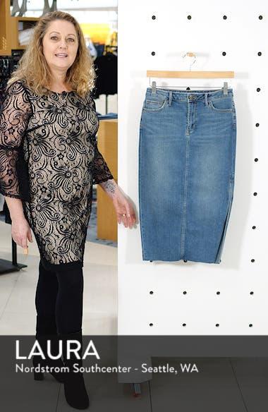 The Maribelle Mid Rise Denim Skirt, sales video thumbnail