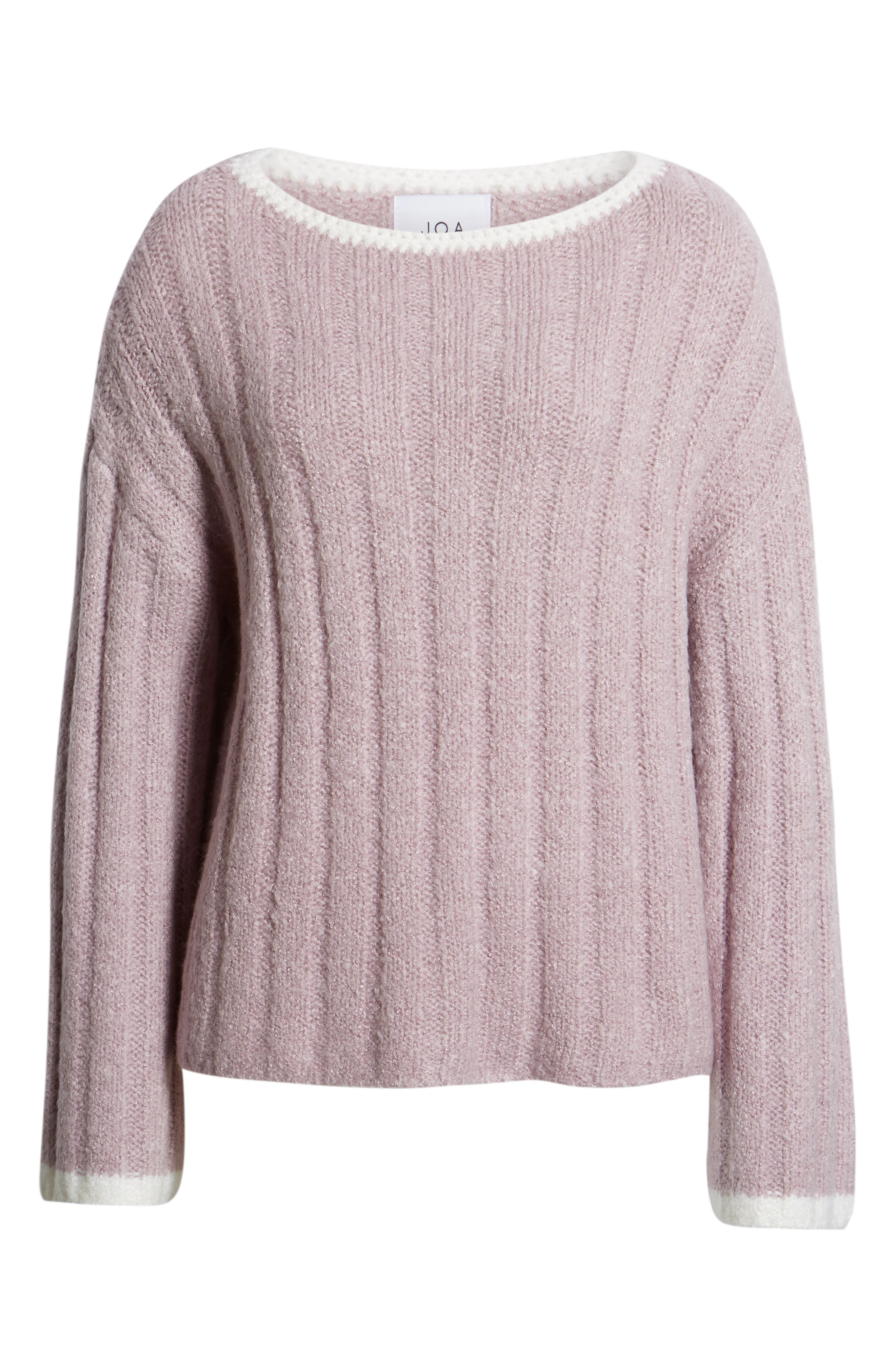 J.O.A., Oversize Sweater, Alternate thumbnail 6, color, LAVENDER