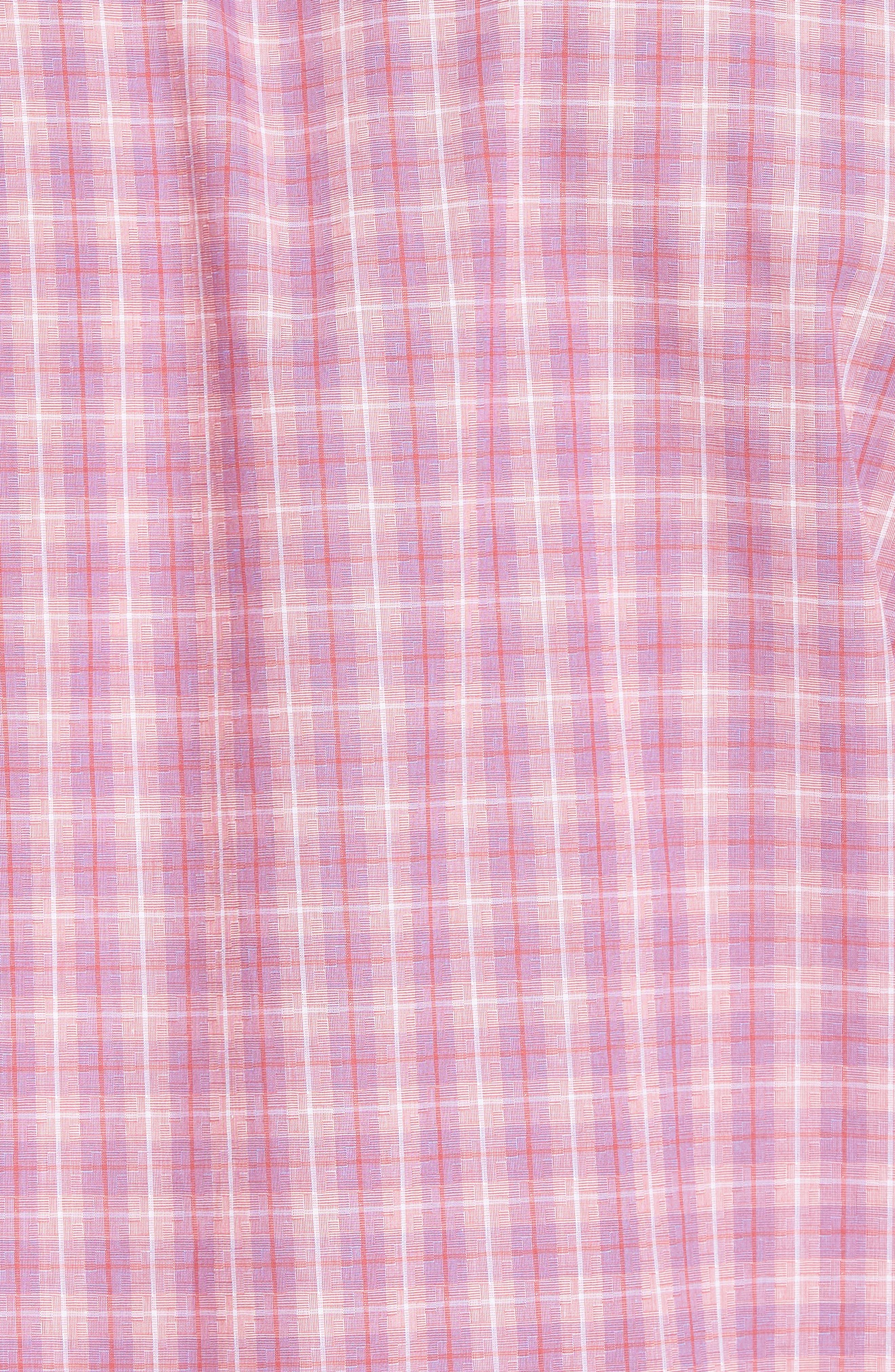 ZACHARY PRELL, Duran Regular Fit Sport Shirt, Alternate thumbnail 5, color, PINK