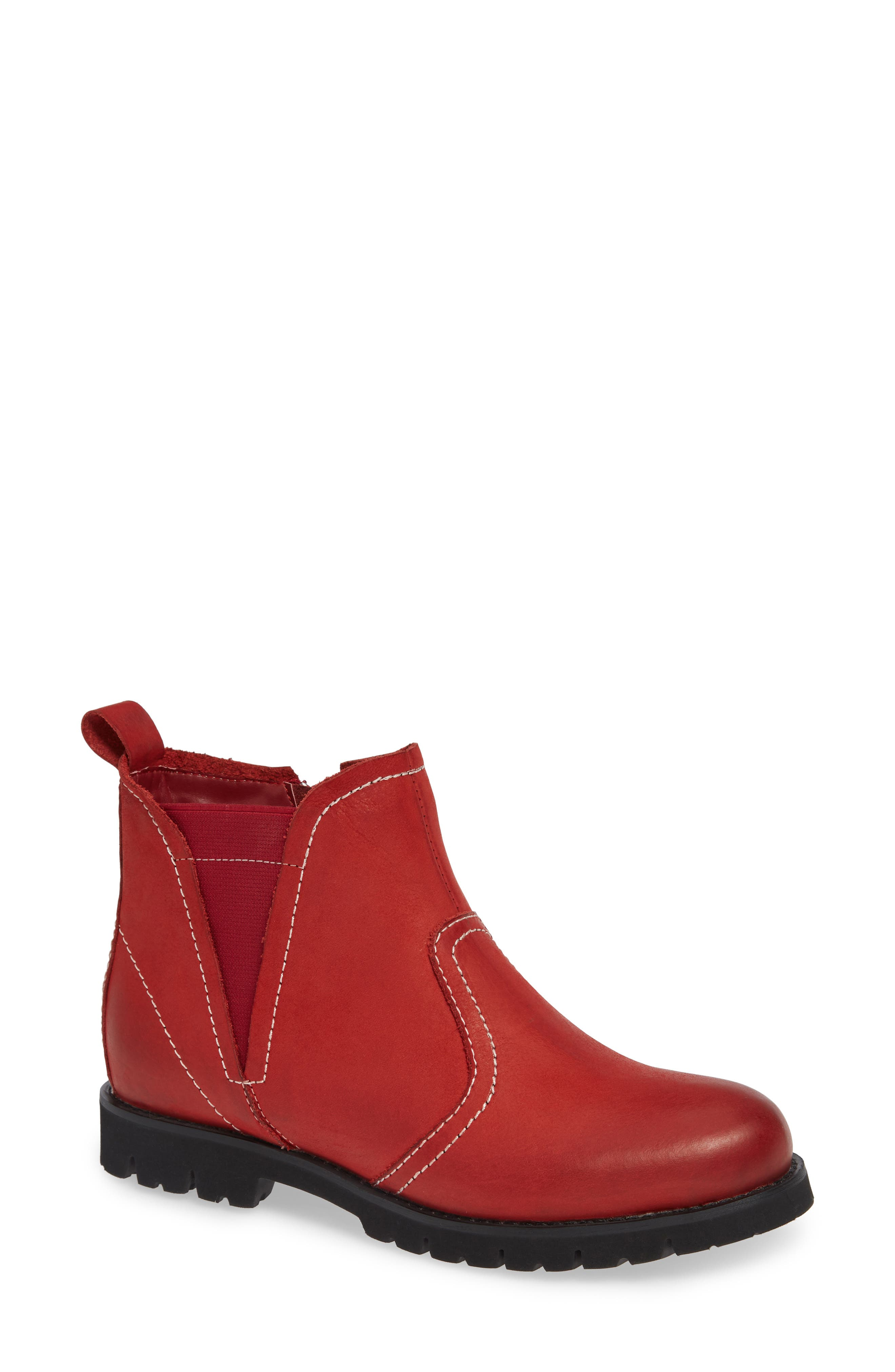 David Tate Reserve Lugged Bootie- Red