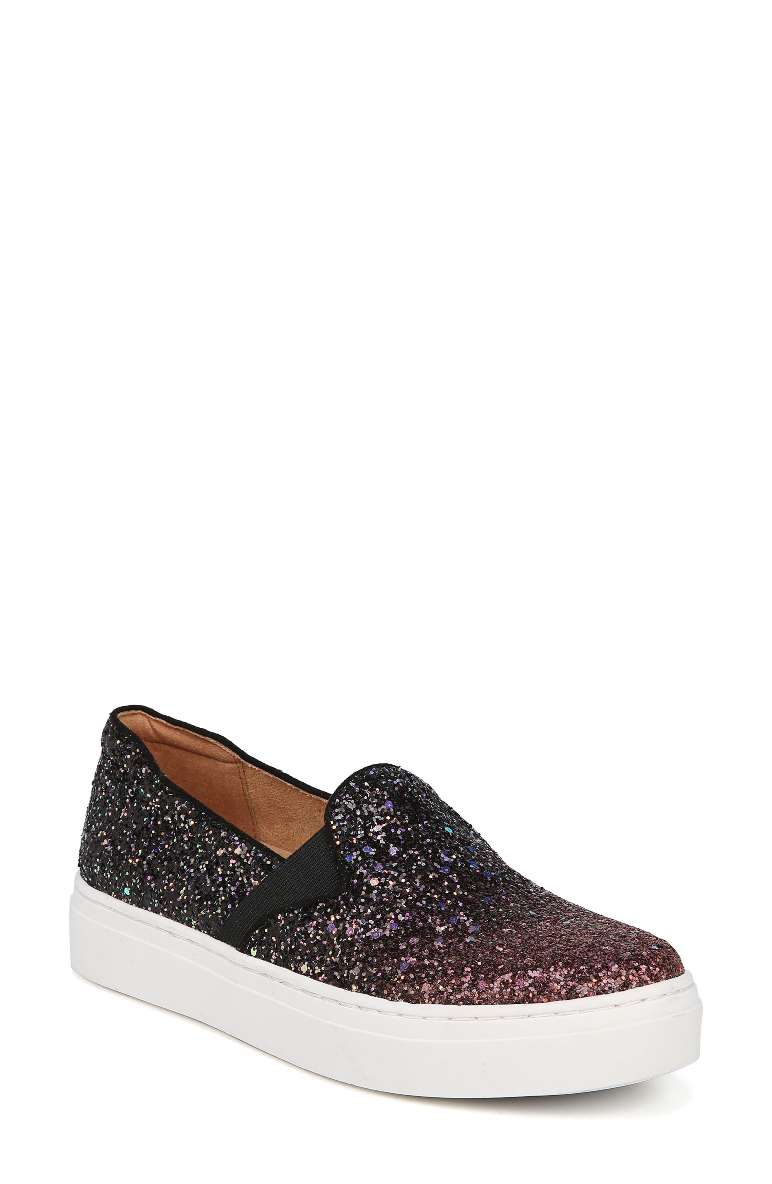 NATURALIZER, Carly Slip-On Sneaker, Main thumbnail 1, color, MULTI GLITTER FABRIC