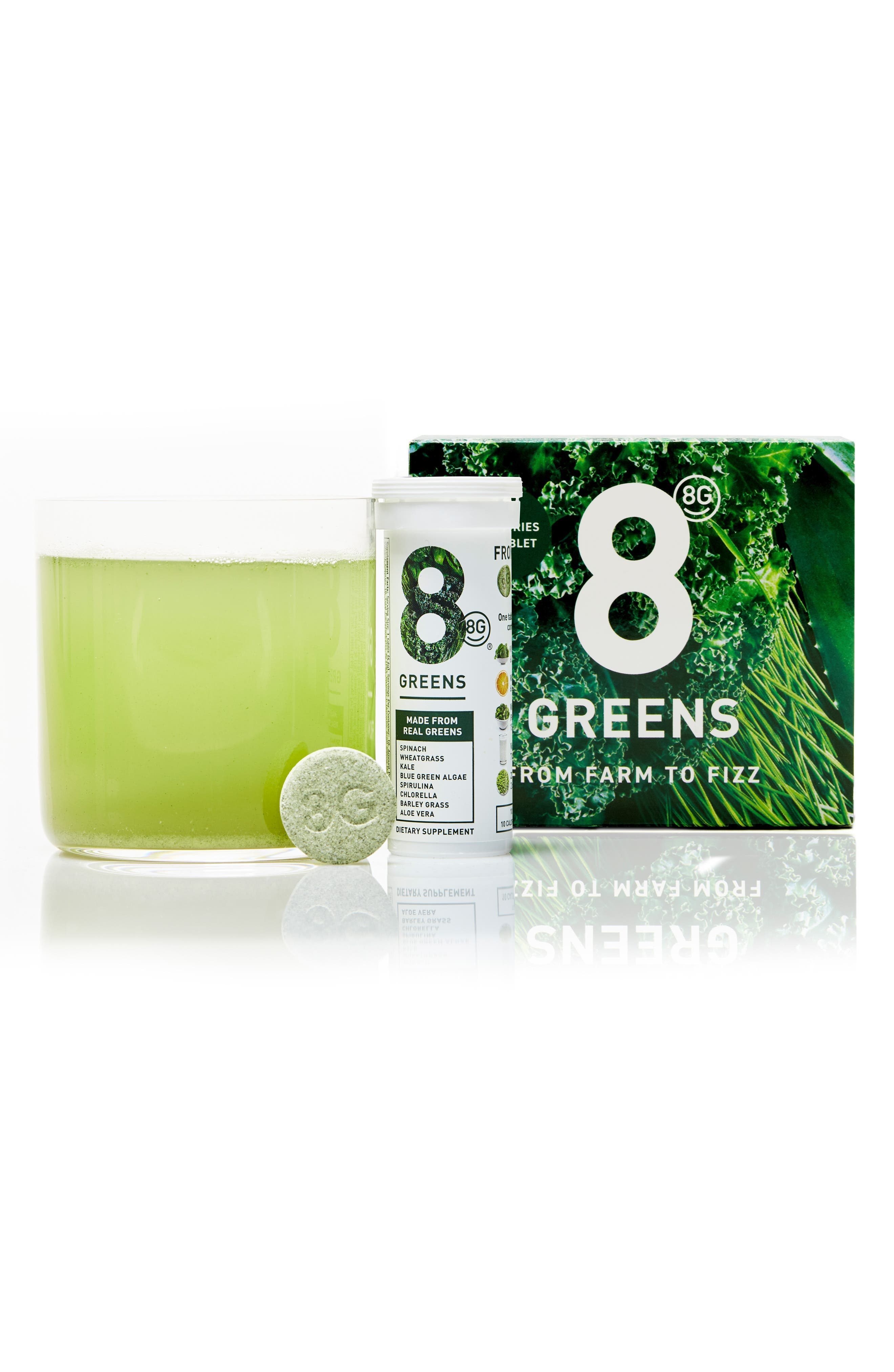 8G, Greens 6-Pack Dietary Supplement, Alternate thumbnail 2, color, NO COLOR