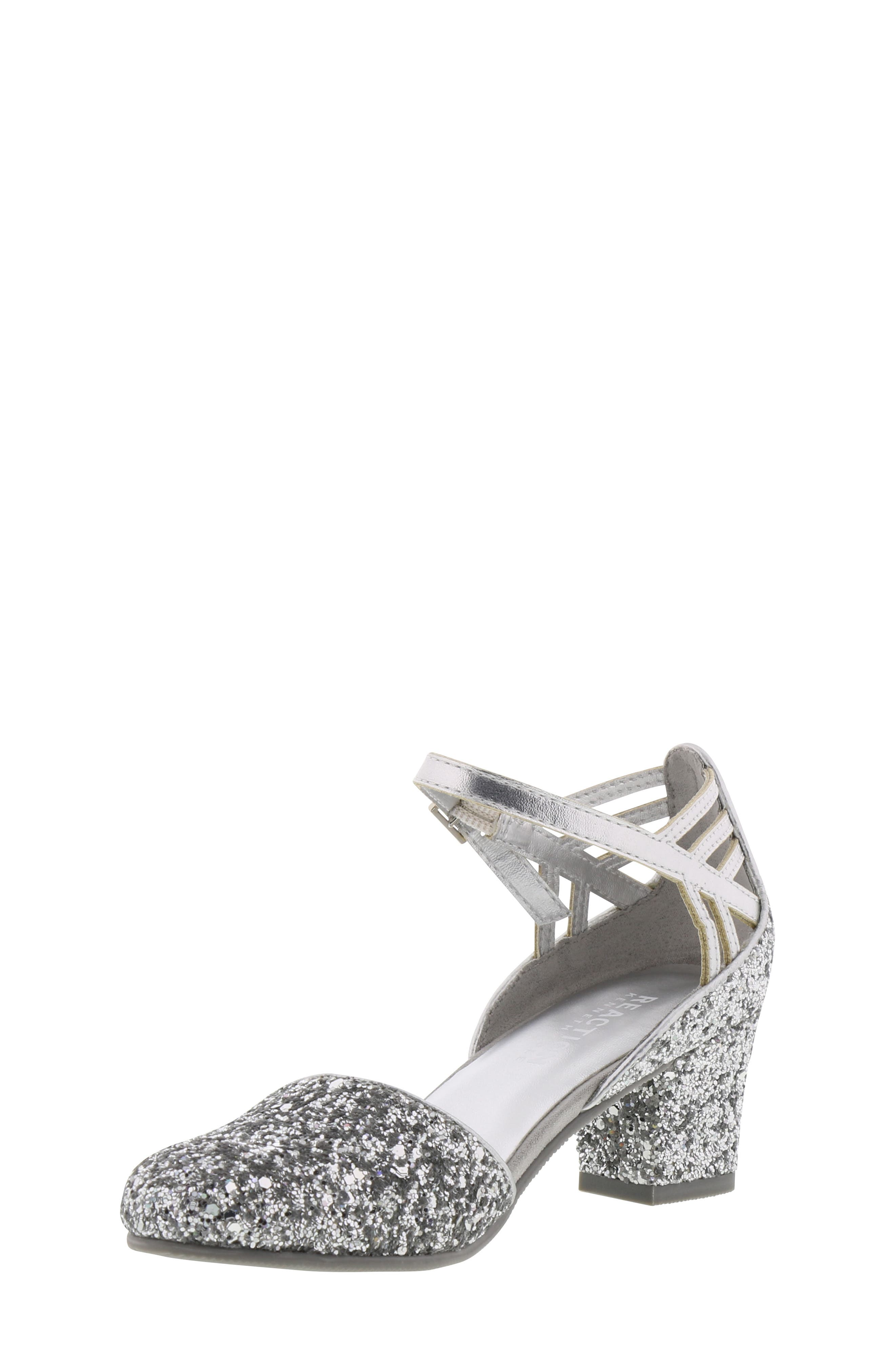 REACTION KENNETH COLE, Kenneth Cole New York Sarah Shine Pump, Alternate thumbnail 8, color, SILVER MULTI