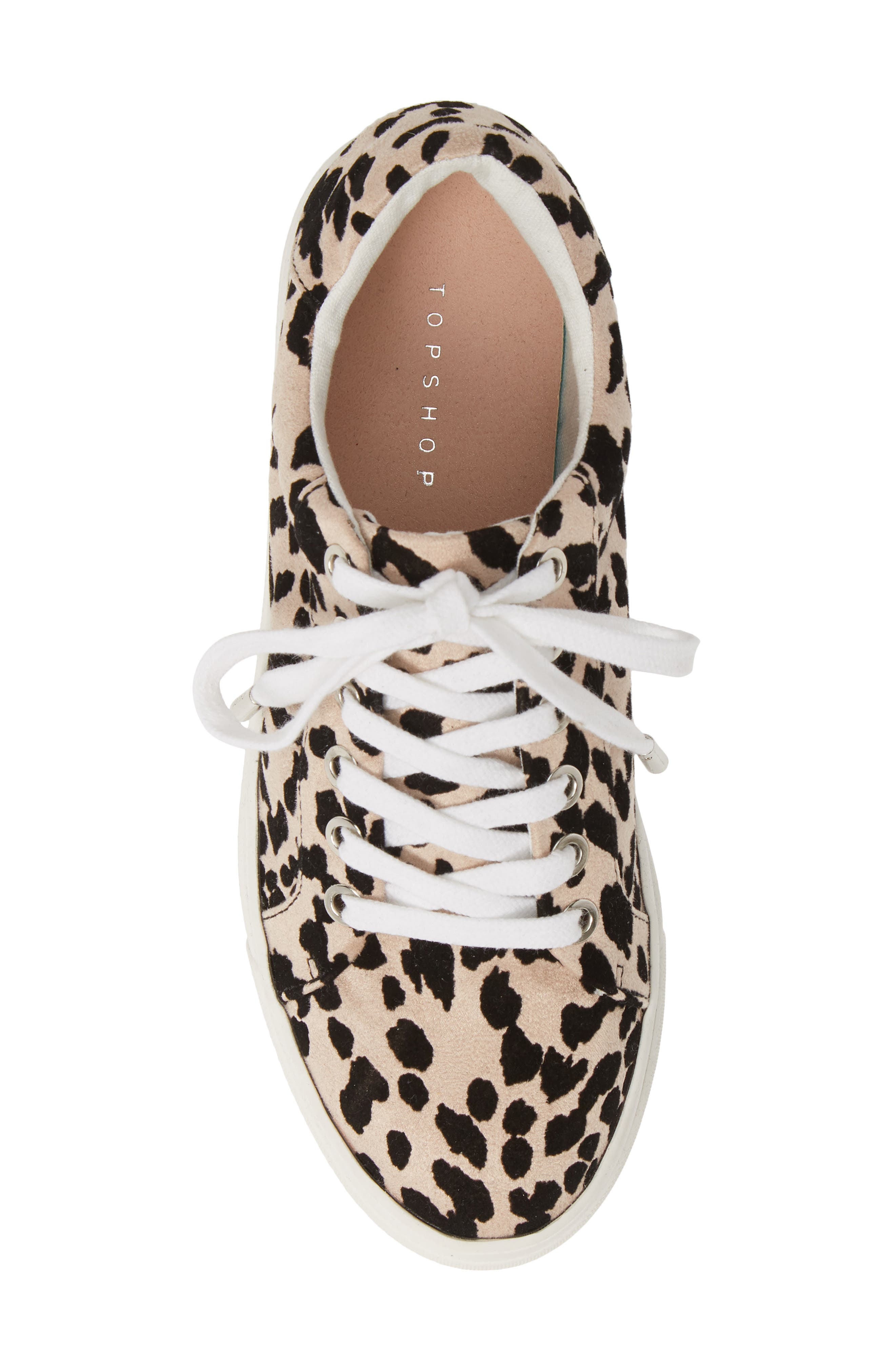 TOPSHOP, Candy Platform Sneaker, Alternate thumbnail 5, color, NUDE MULTI