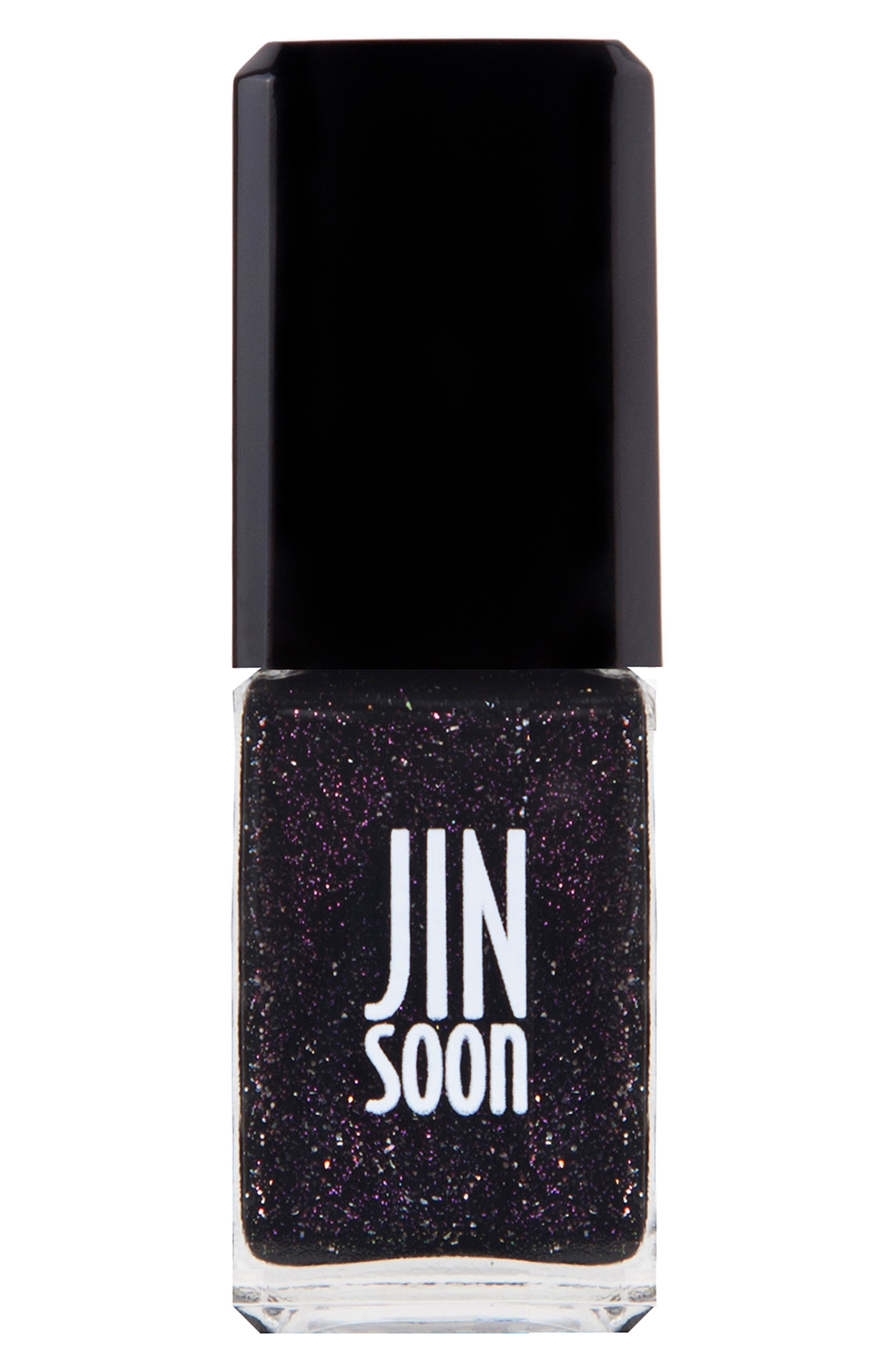 JINSOON, 'Obsidian' Nail Lacquer, Main thumbnail 1, color, 000