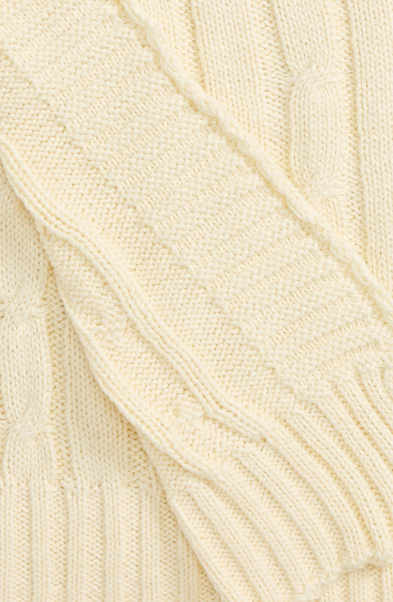 RIZZY HOME, Cable Knit Cotton Throw, Alternate thumbnail 2, color, 270