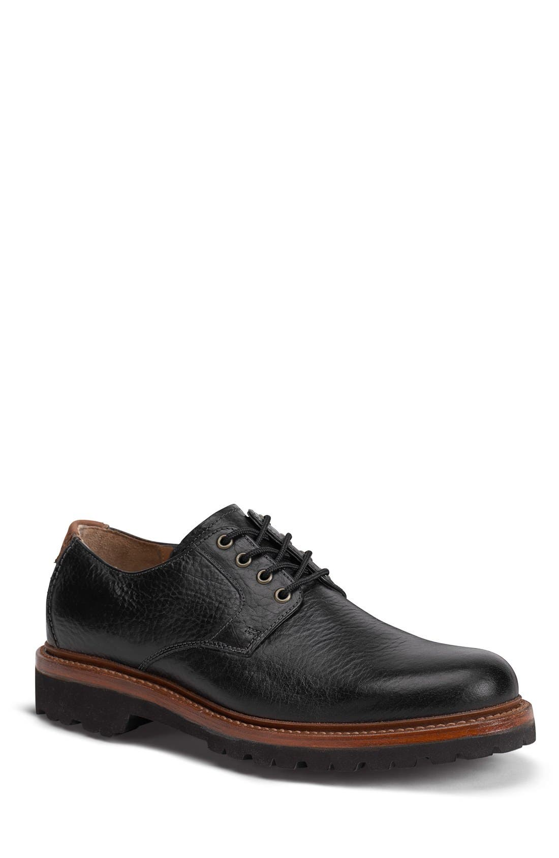 TRASK, 'Gallatin II' Oxford, Main thumbnail 1, color, BLACK LEATHER