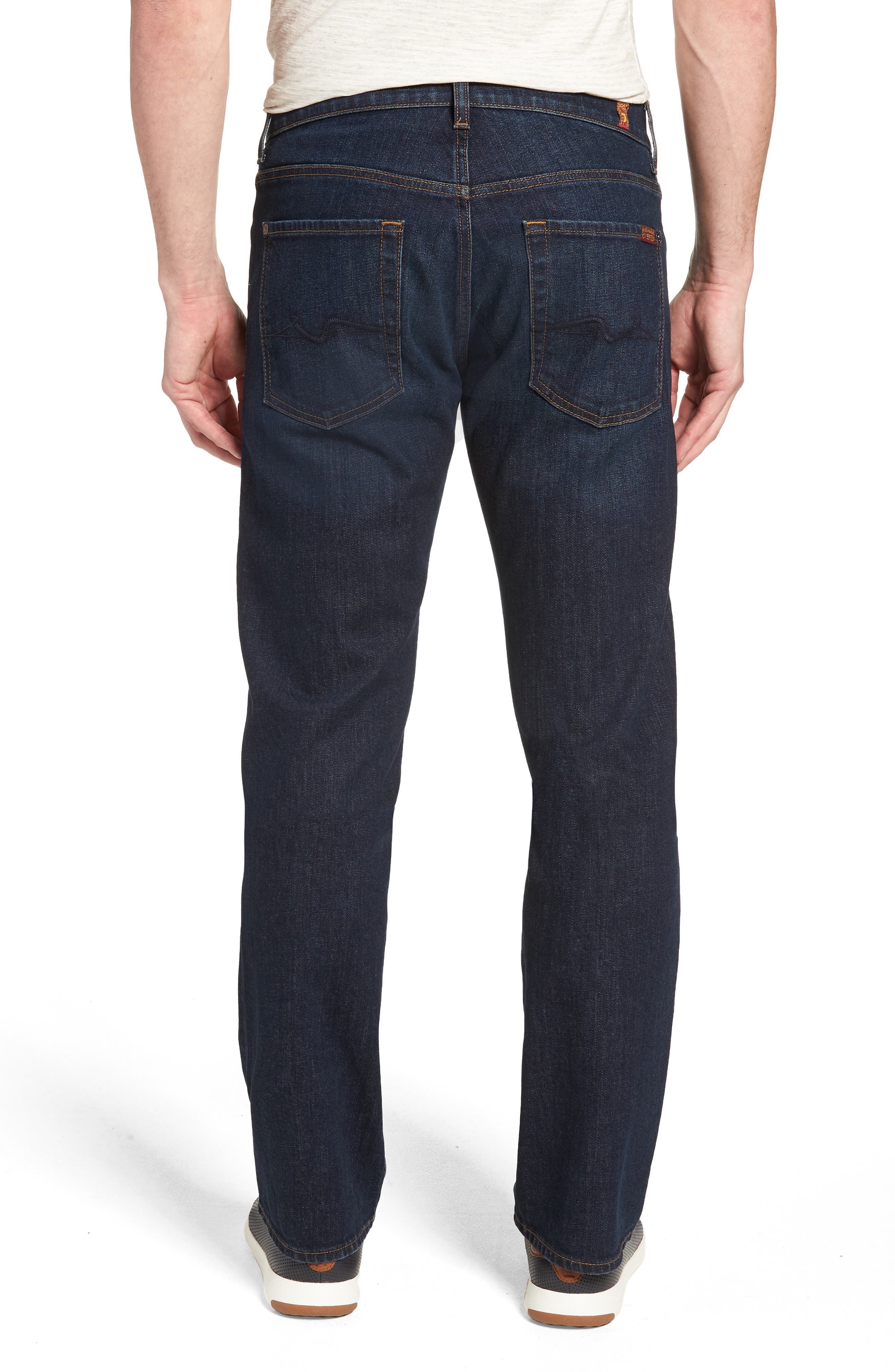 7 FOR ALL MANKIND<SUP>®</SUP>, Austyn Relaxed Straight Leg Jeans, Alternate thumbnail 2, color, ABERDEEN