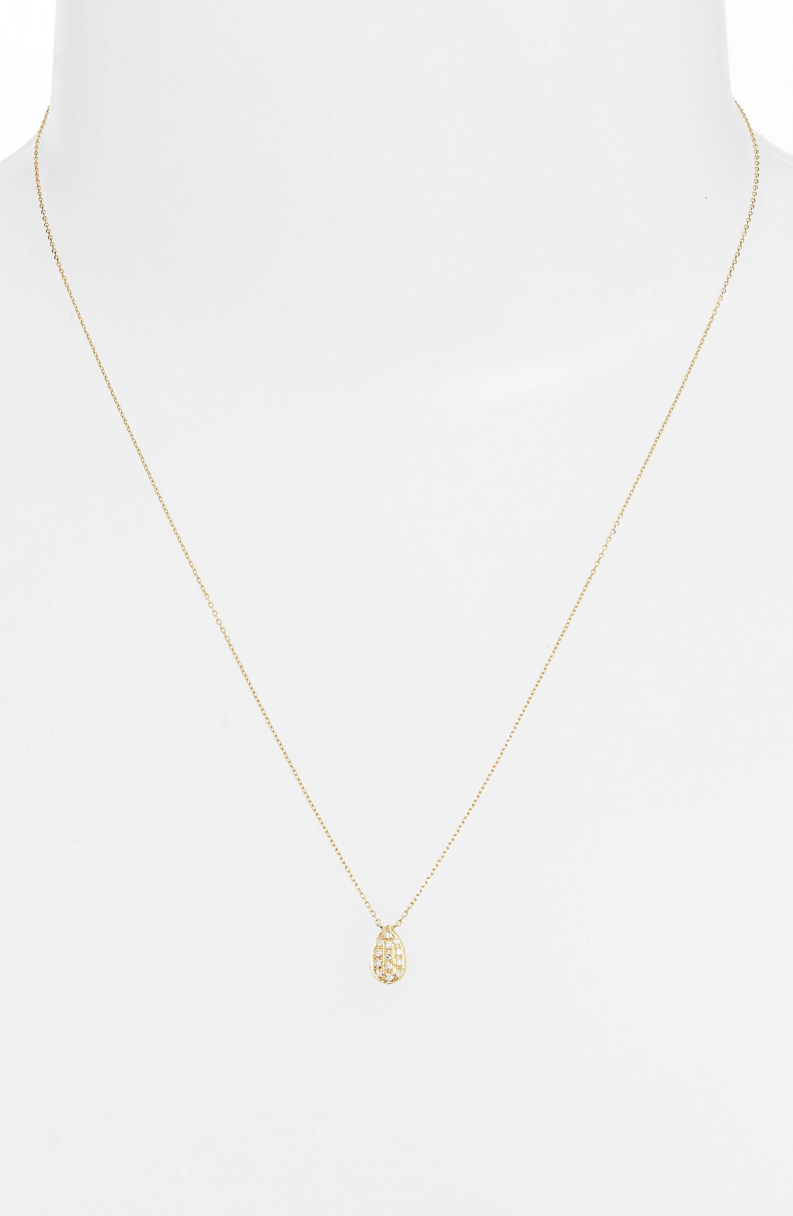 DANA REBECCA DESIGNS, Samantha Lynn Diamond Pendant Necklace, Alternate thumbnail 2, color, 710