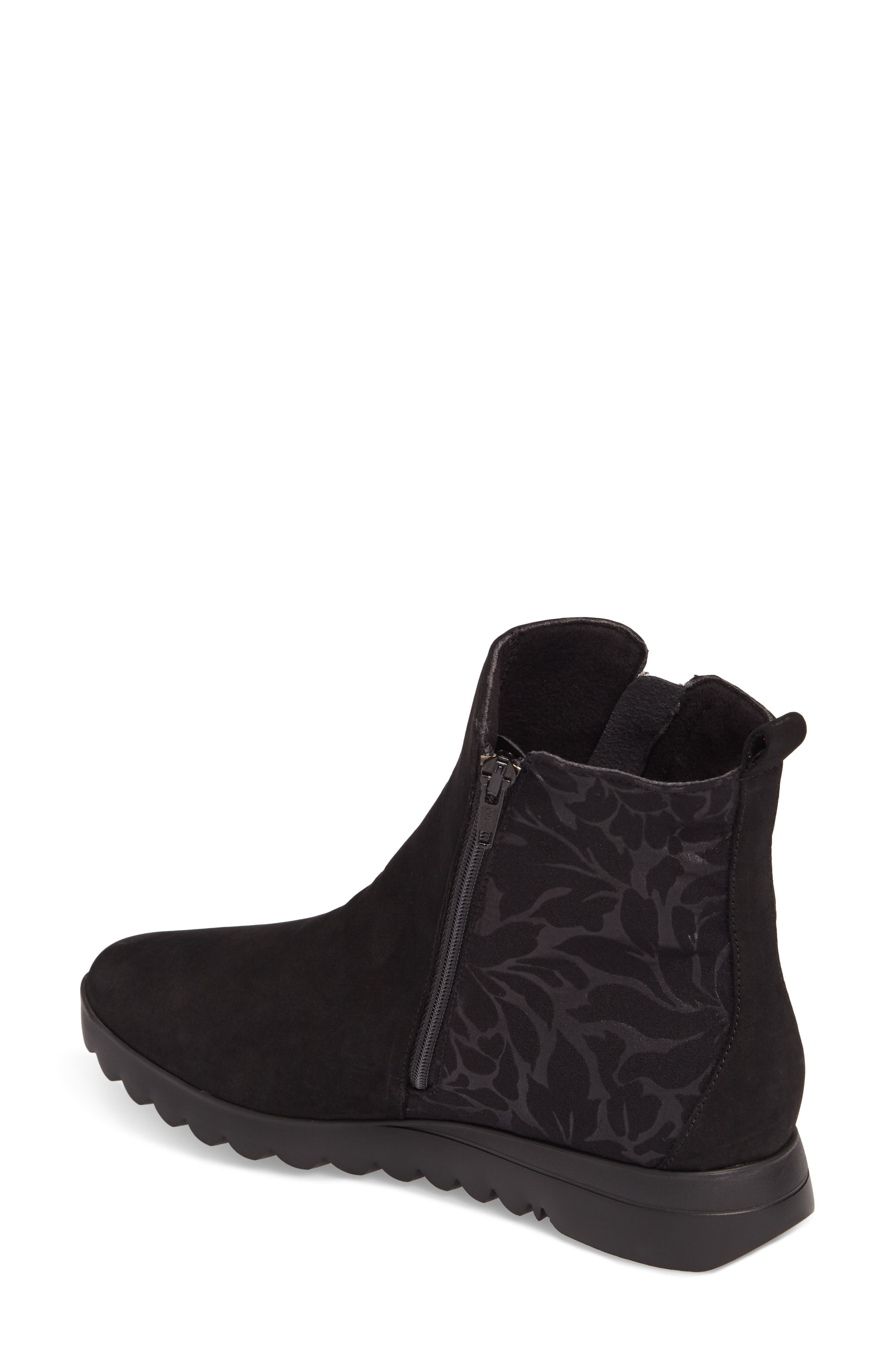 MUNRO, Ashcroft Bootie, Alternate thumbnail 2, color, BLACK NUBUCK
