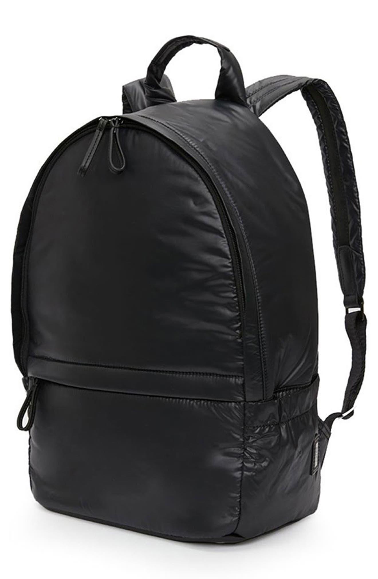 CARAA, Stratus Waterproof Backpack, Alternate thumbnail 6, color, BLACK