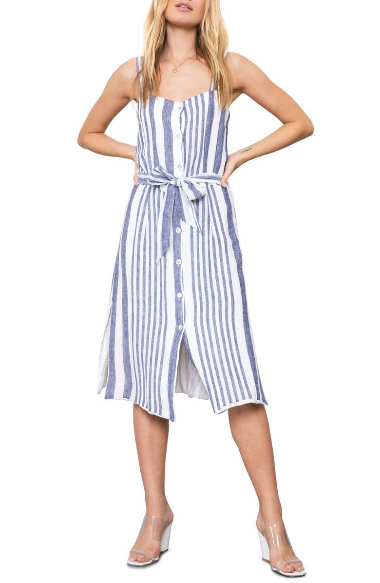 Rails Dresses Clement Tie Waist Linen Blend Sundress