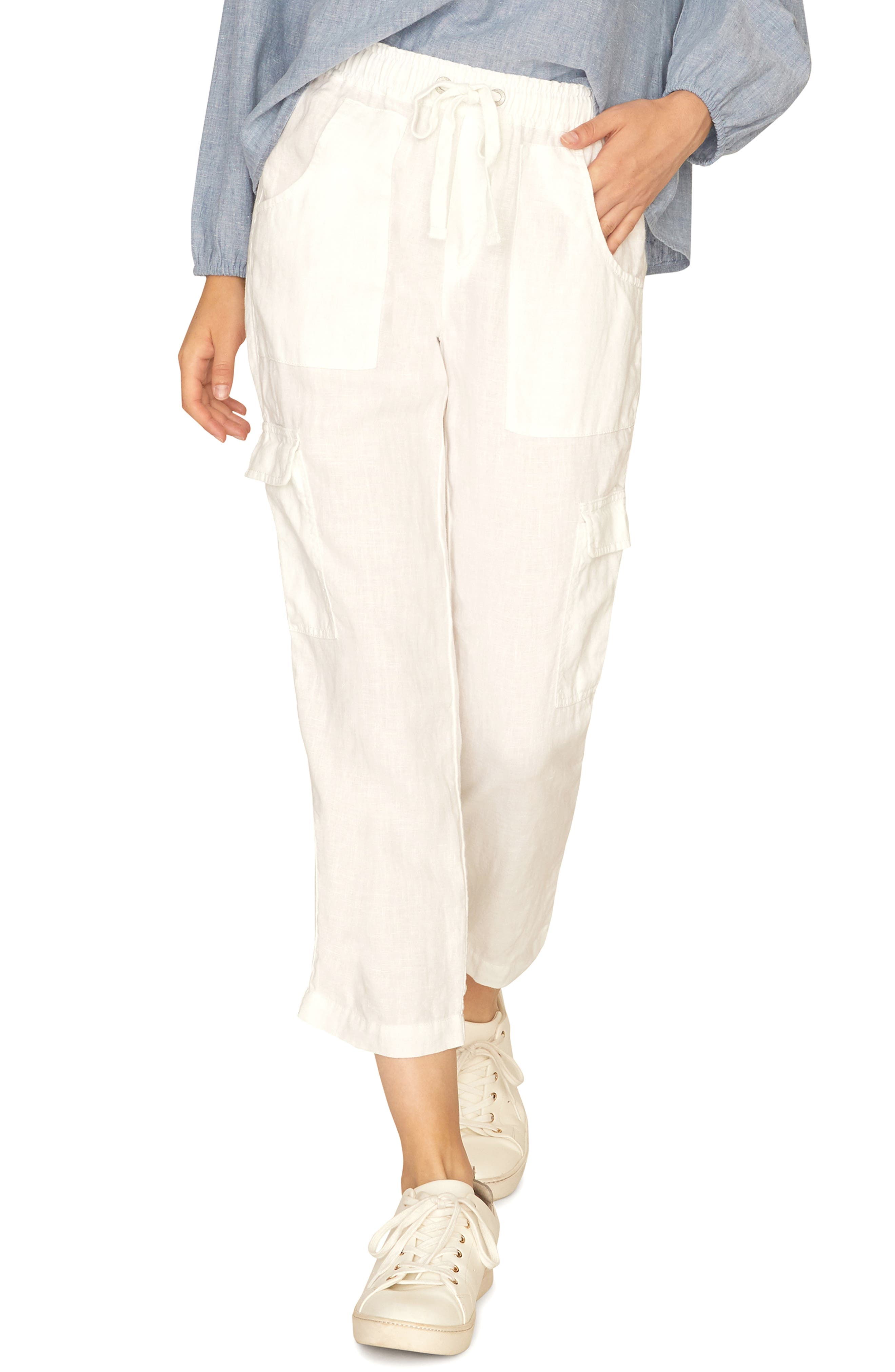 Sanctuary Discoverer Pull-On Cargo Pants, White