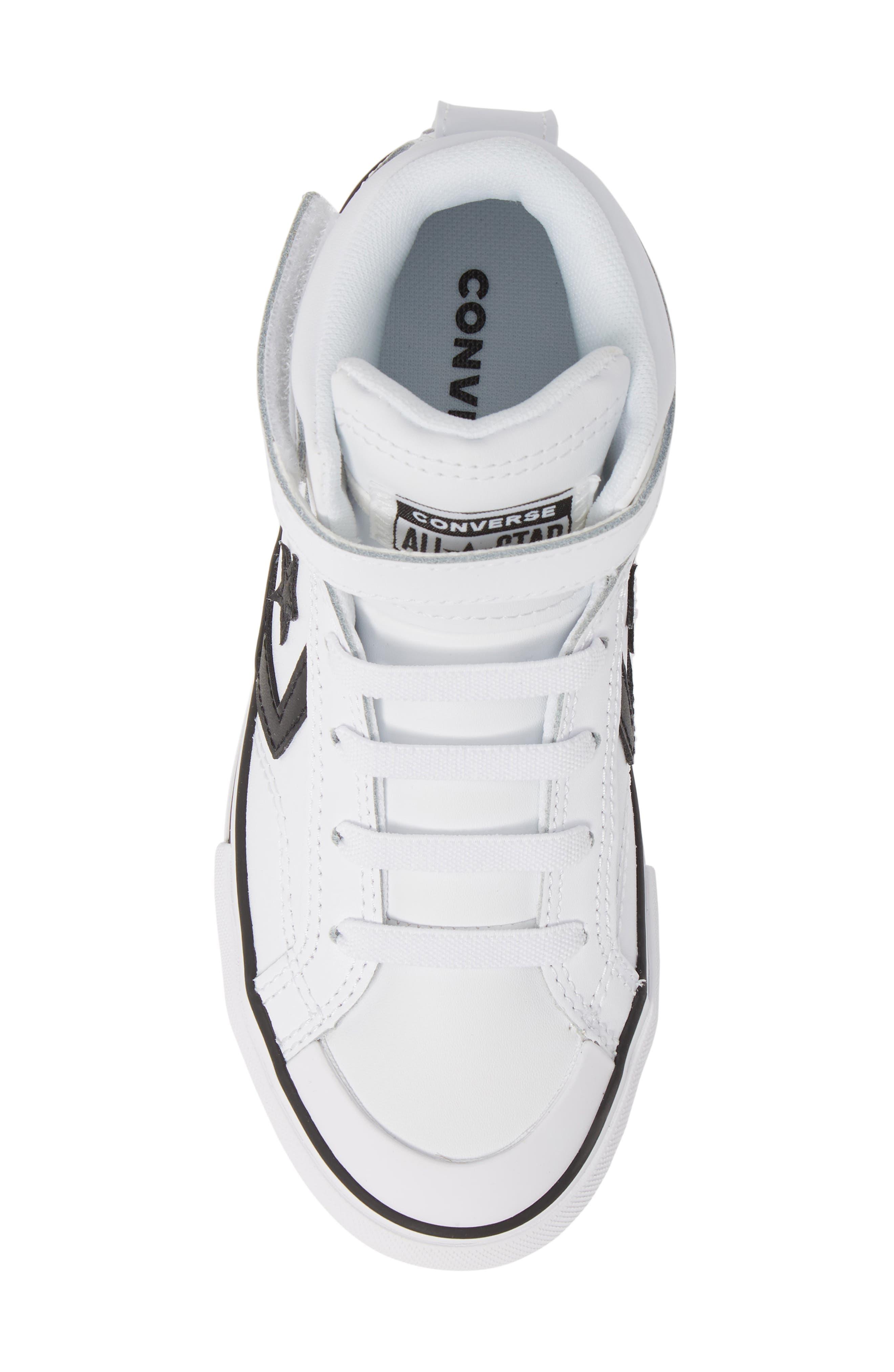 CONVERSE, Pro Blaze High Top Sneaker, Alternate thumbnail 5, color, WHITE/ BLACK/ WHITE