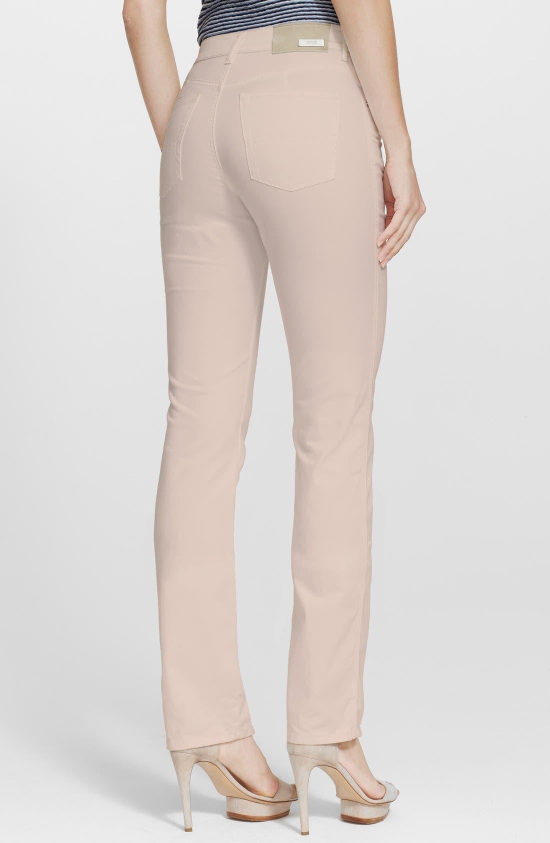 ARMANI COLLEZIONI, Slim Brushed Cotton Jeans, Alternate thumbnail 3, color, 272